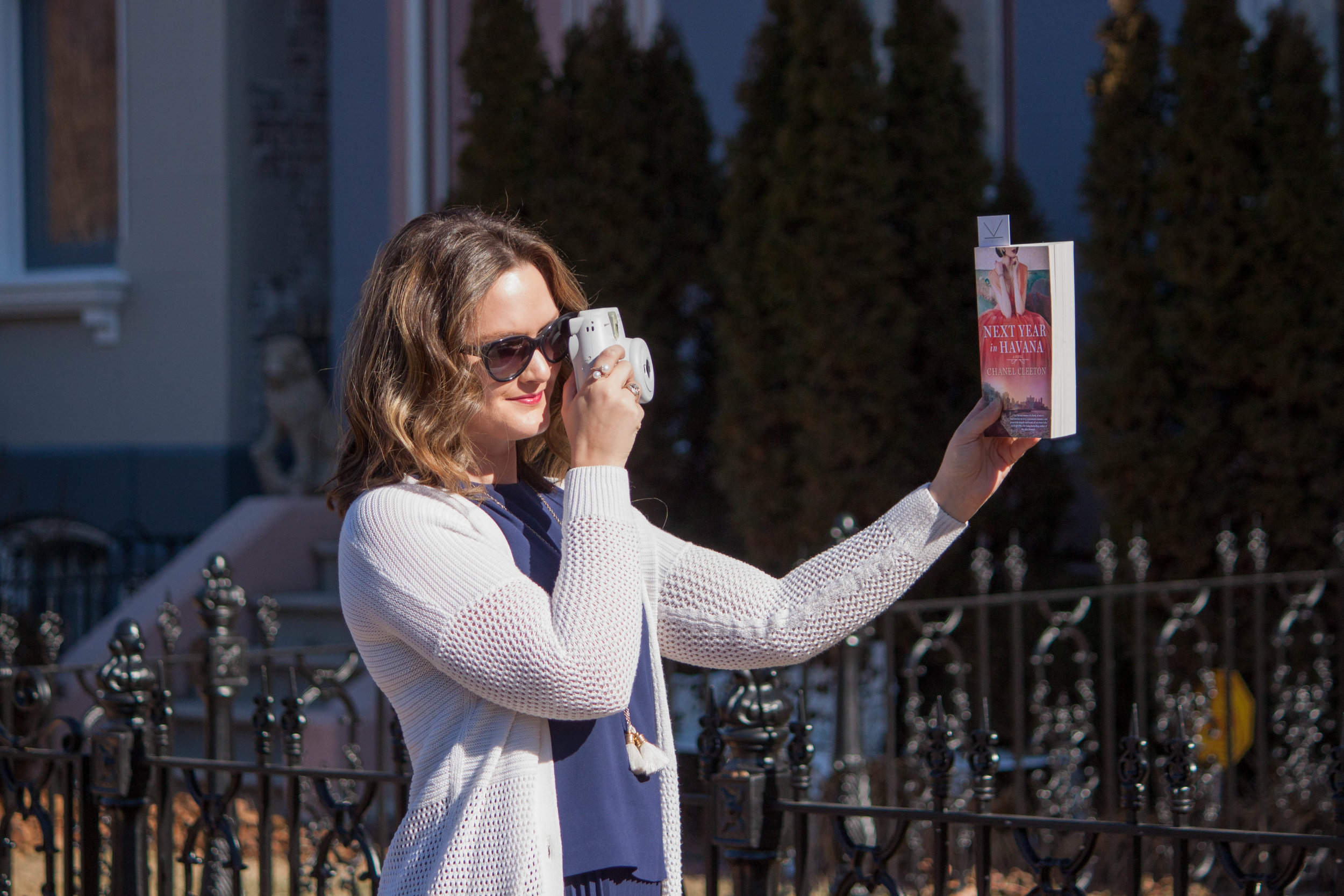 Reading Next Year in Havana by Chanel Cleeton in Lafayette Square in St. Louis, MO