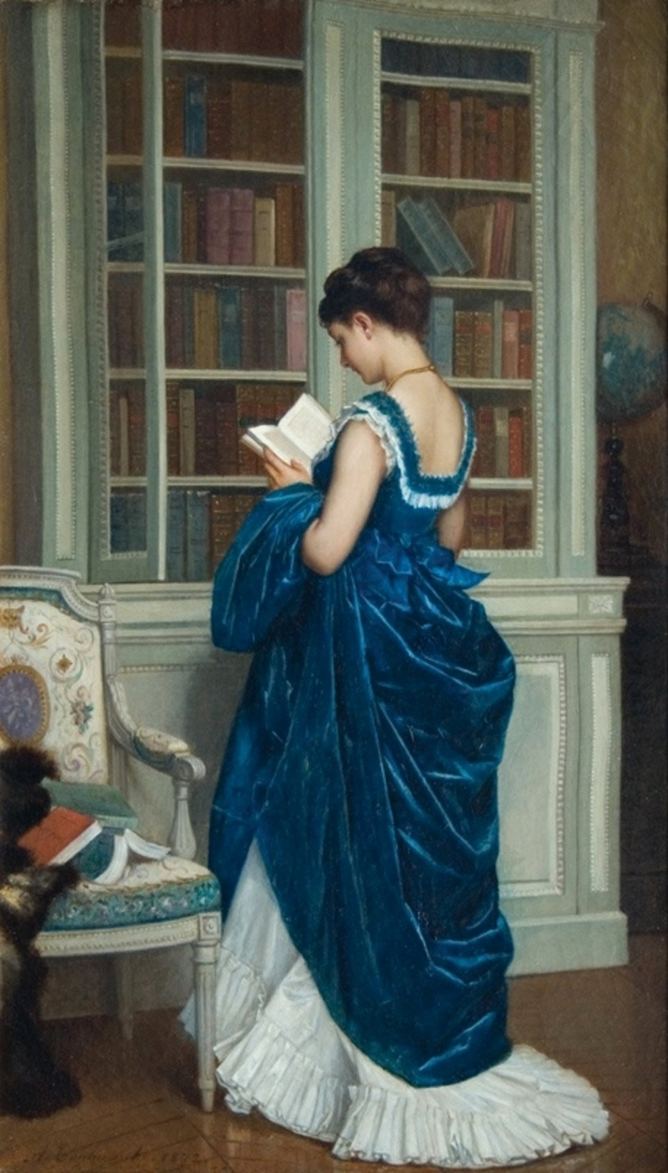 In the Library | 1872 | Auguste Toulmouche | Privately owned