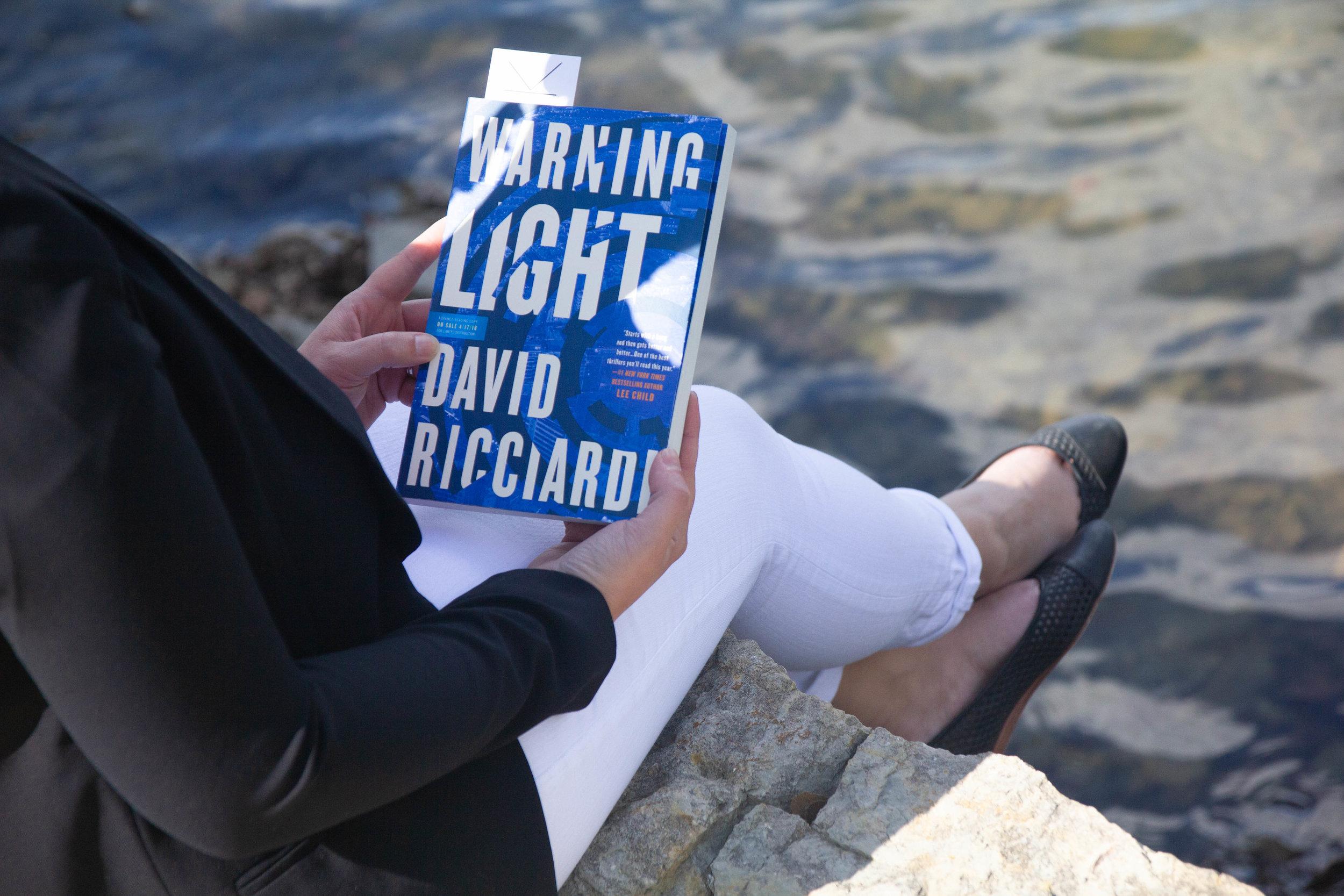 Reading Warning Light by David Ricciardi in New Town at St. Charles, MO