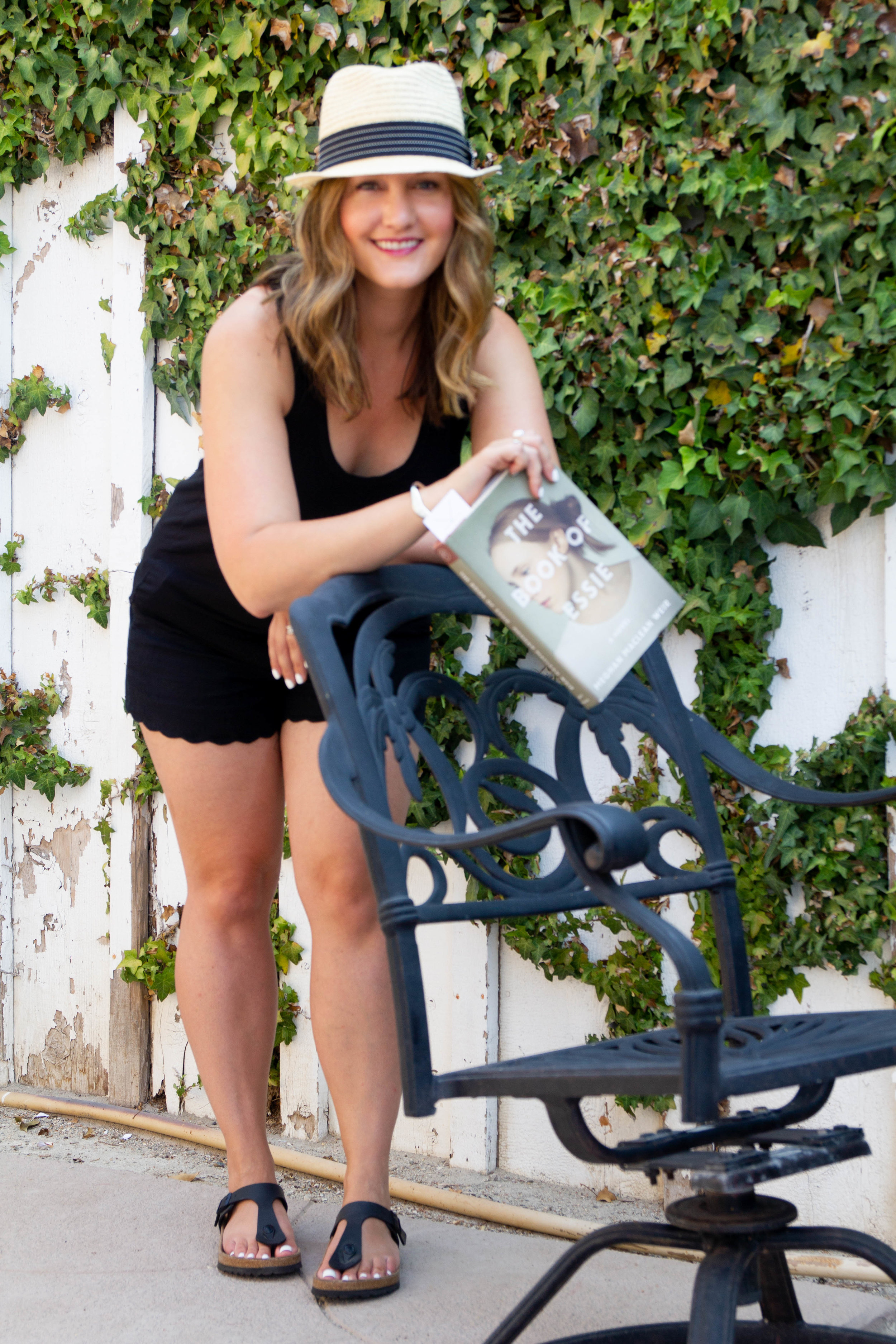 Reading The Book of Essie by Meghan MacLean Weir at our vacation rental in San Diego, CA