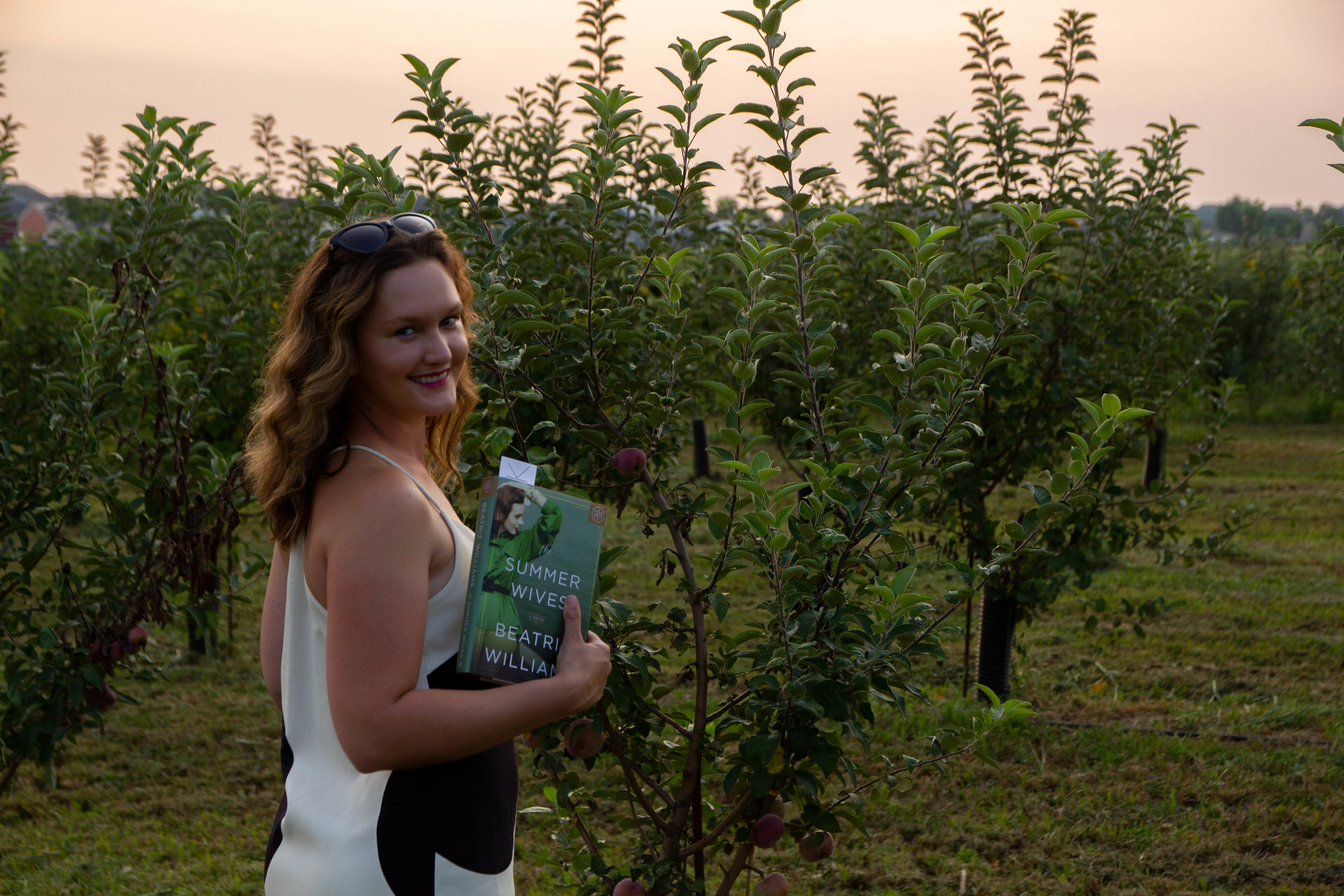 Reading The Summer Wives by Beatriz Williams at GlenMark Farms