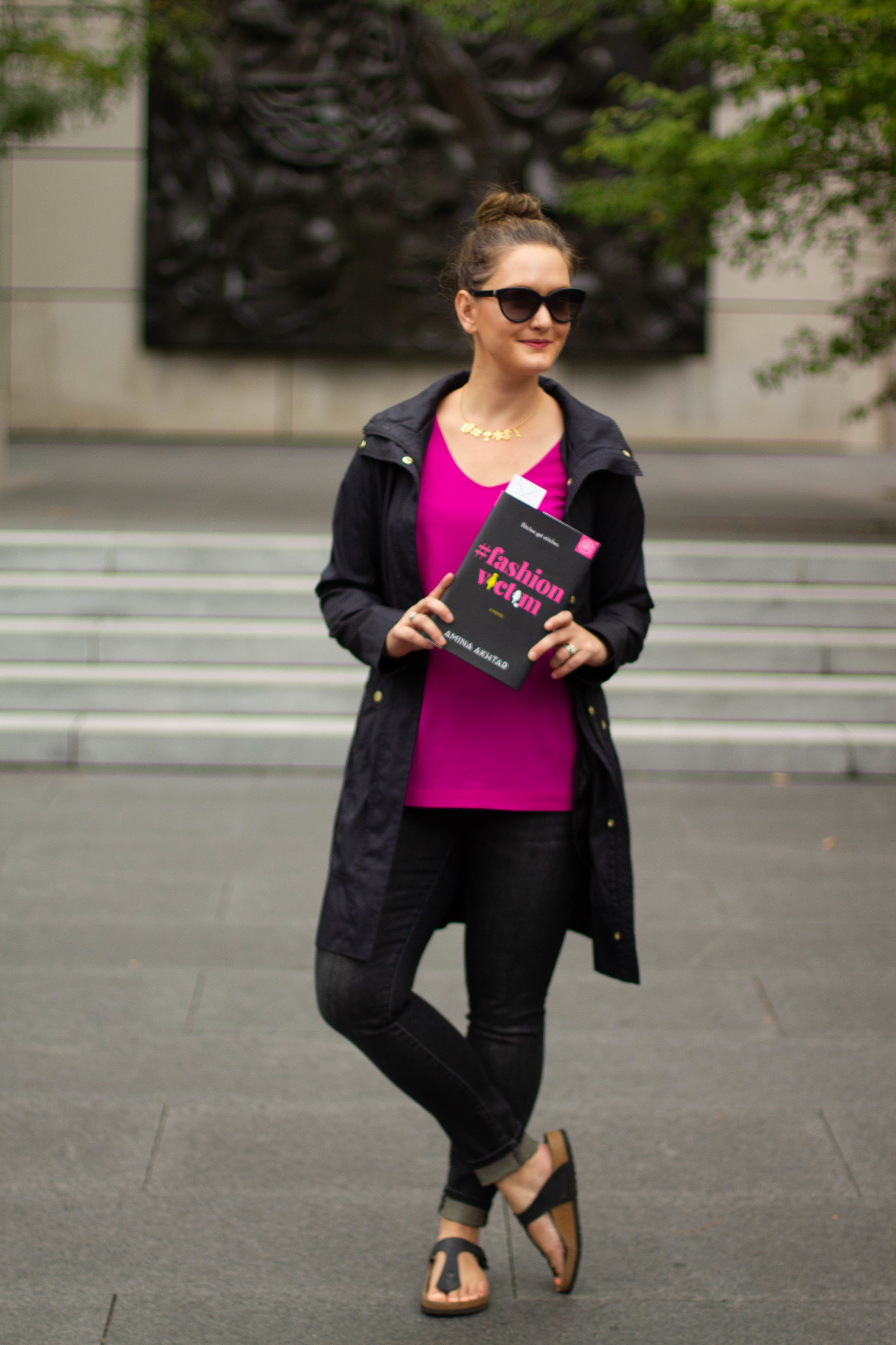 Reading #FashionVictim by Amina Akhtar at City Garden in St. Louis, MO