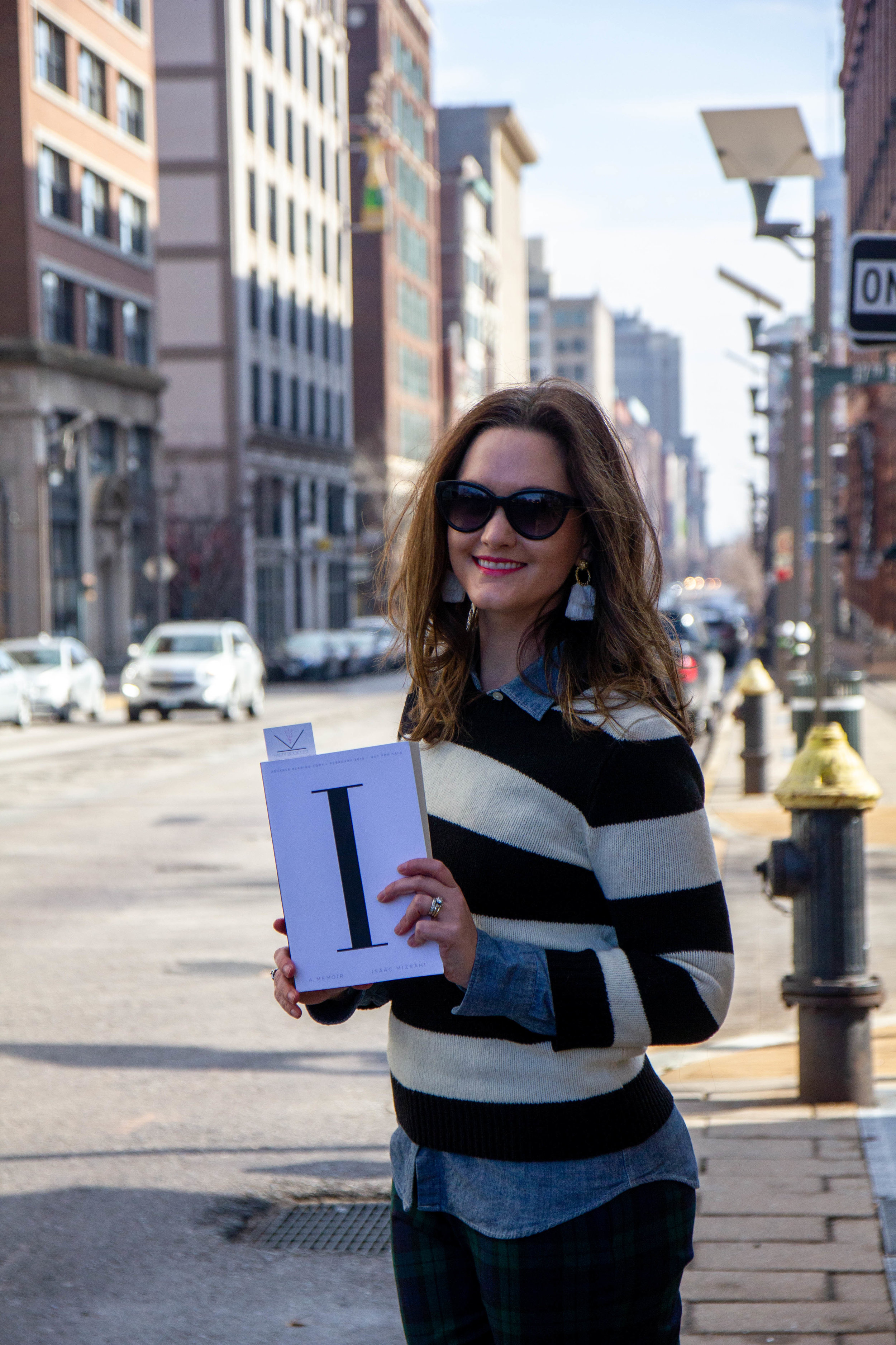 Reading I.M A Memoir by Isaac Mizrahi at the Historic Garment District in St. Louis, MO