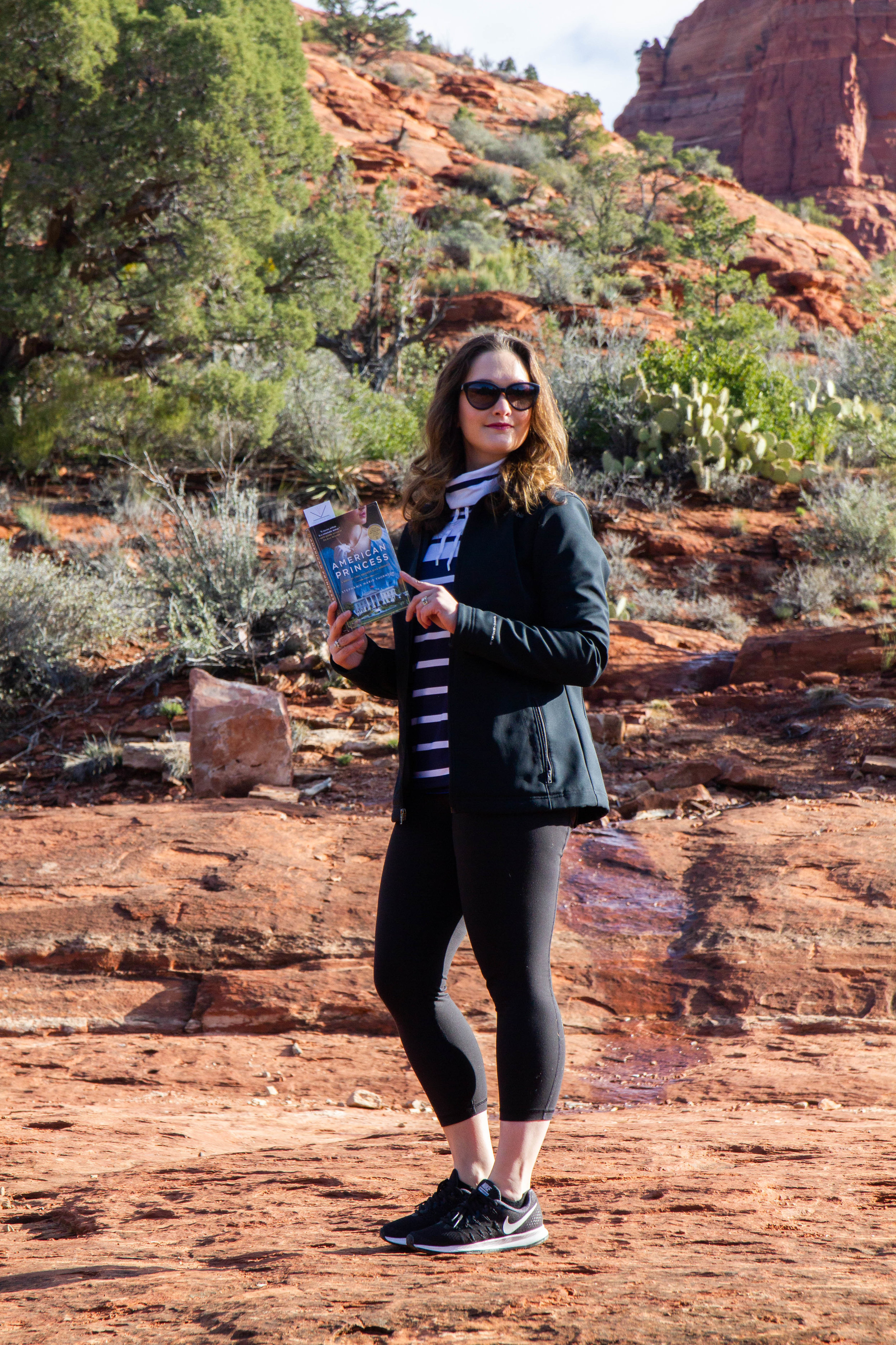 Reading American Princess by Stephanie Marie Thornton on the Soldiers Pass Trail to Seven Sacred Pools in Sedona, AZ
