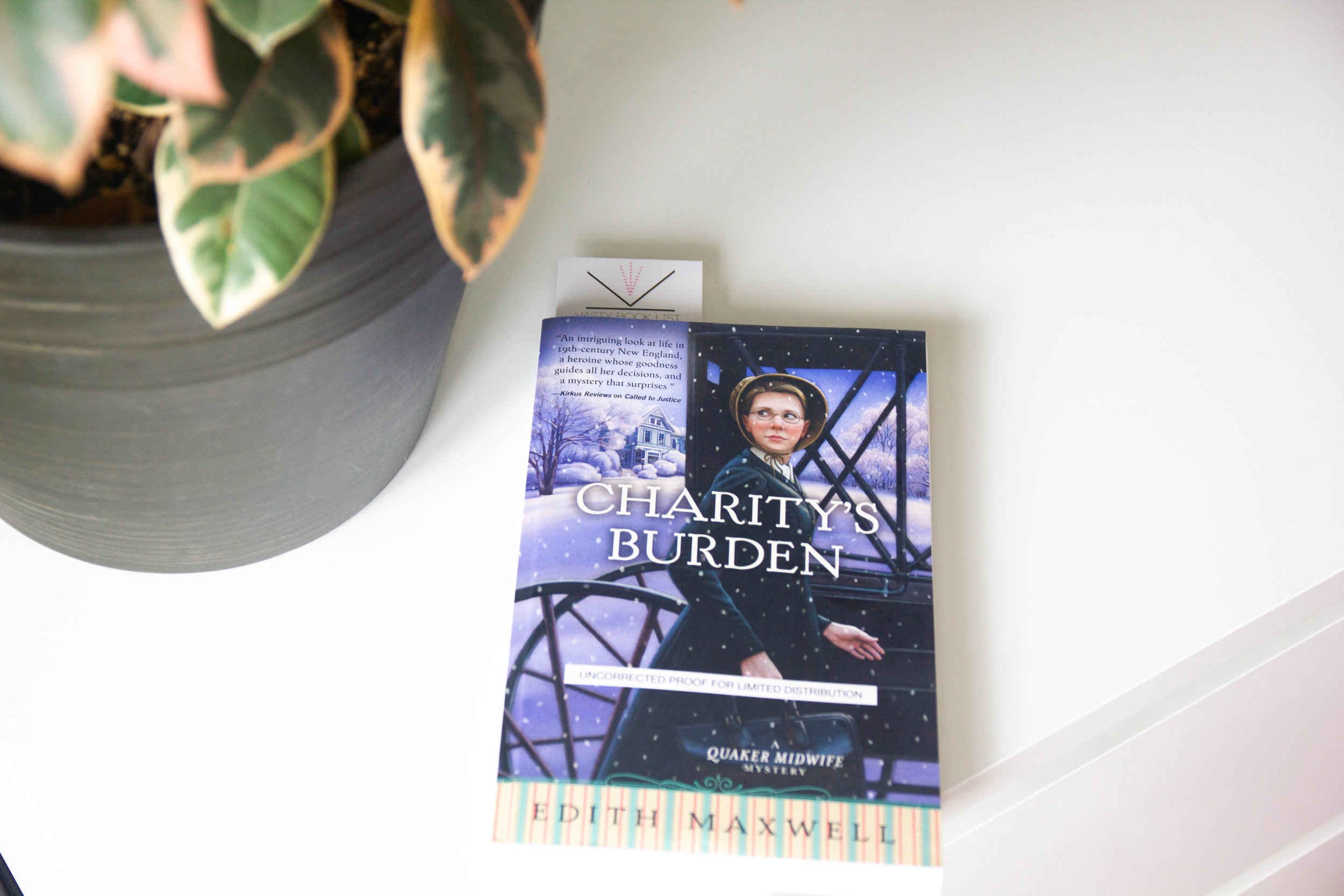 Book Feature - Charity's Burden by Edith Maxwell