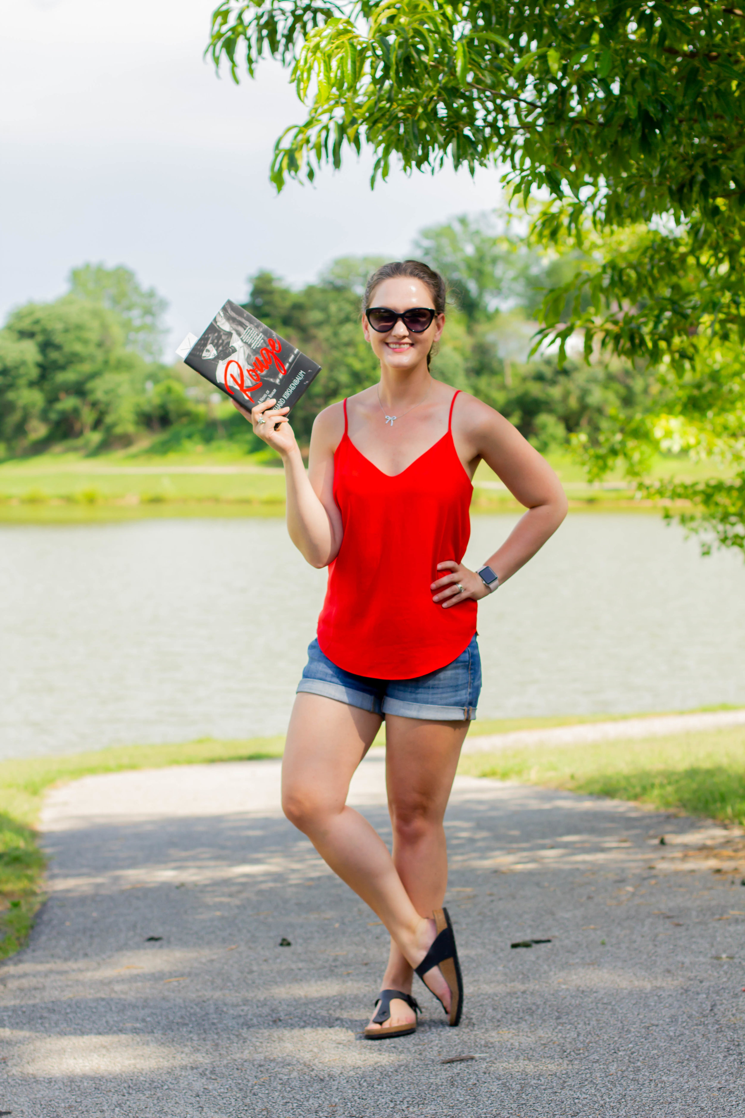 Reading Rouge by Richard Kirshenbaum at McKay Park in Jefferson City, MO