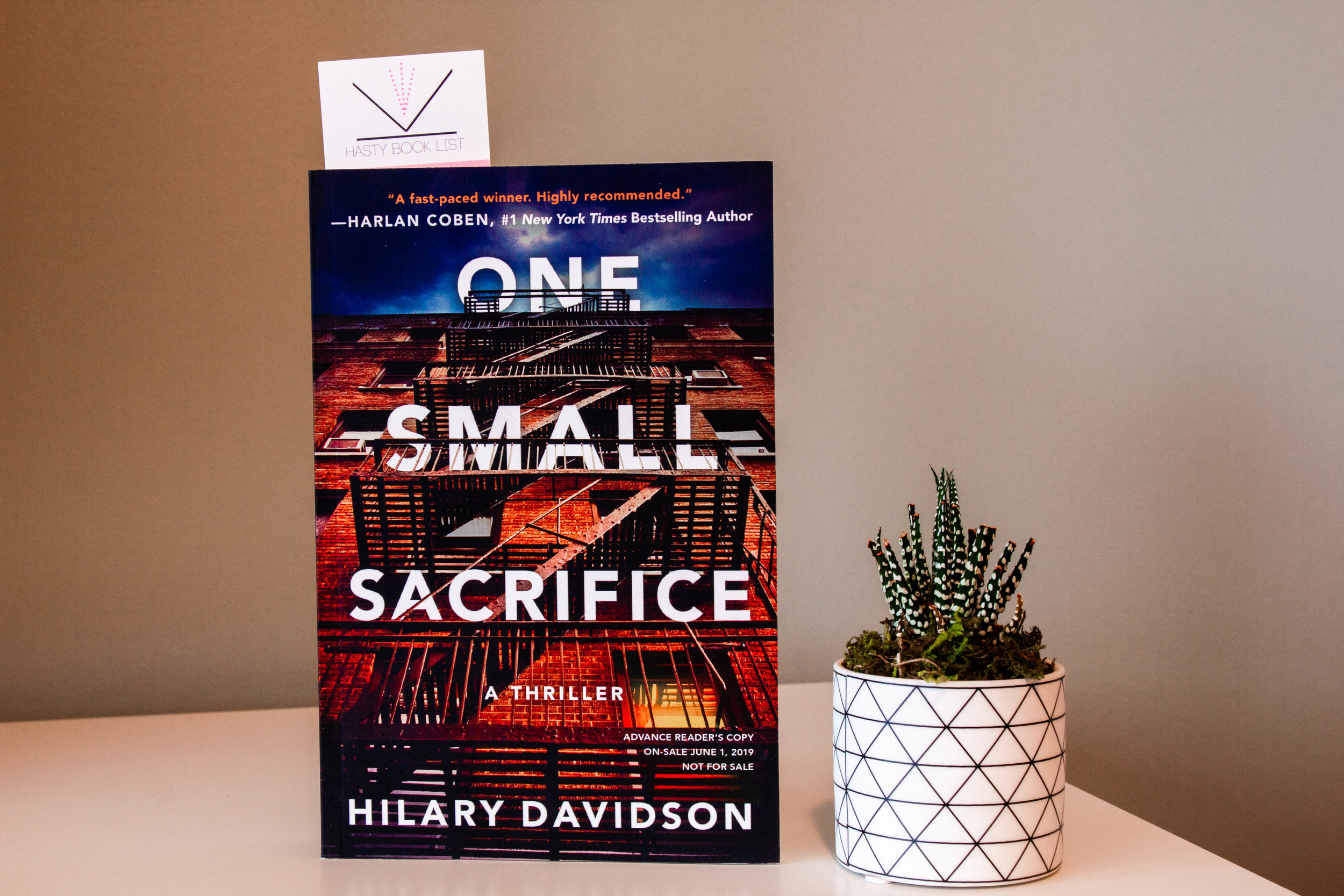 Book Feature - One Small Sacrifice by Hilary Davidson