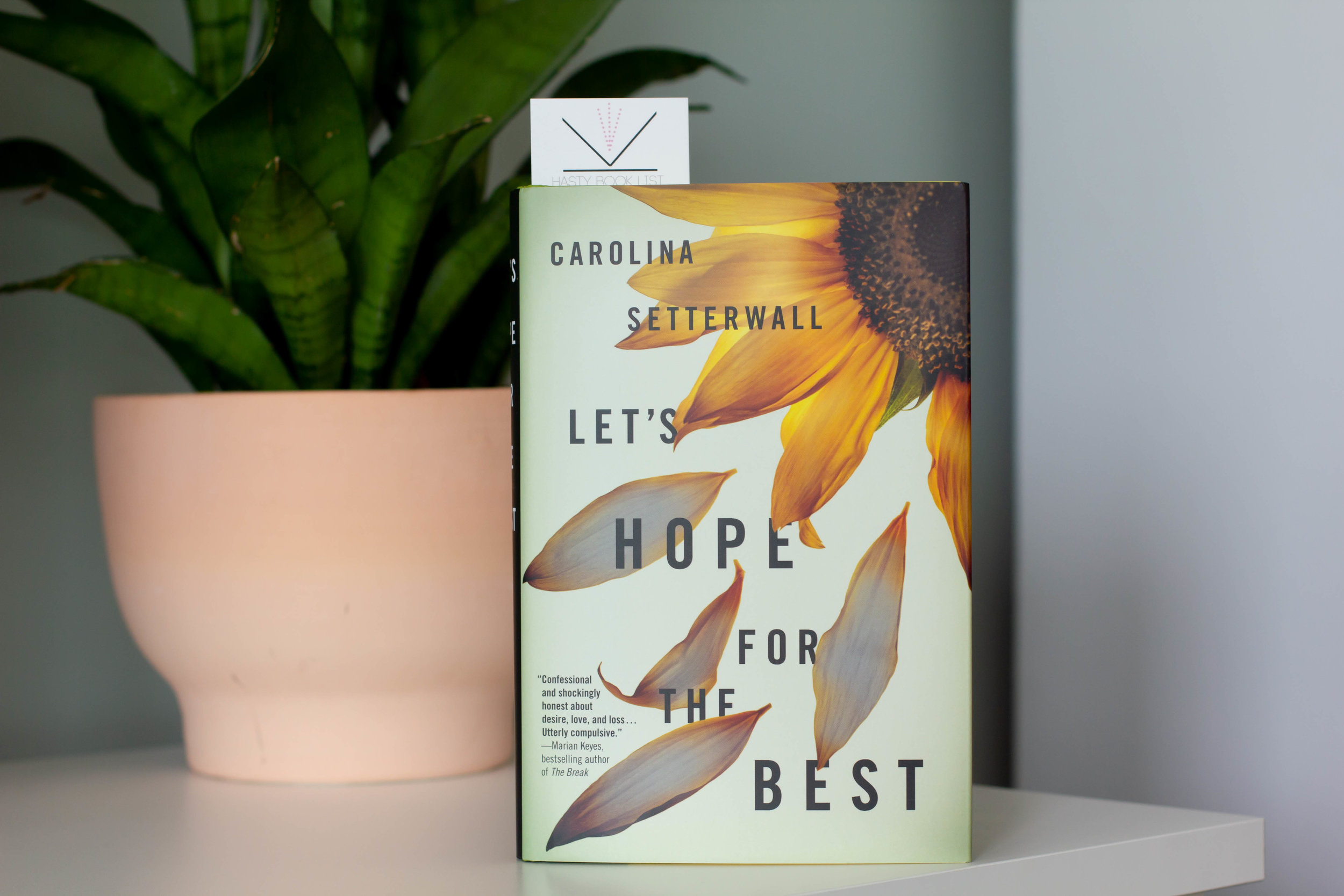 Let's Hope for the Best by Carolina Setterwall - A striking feat of auto-fiction, written in direct address to Setterwall's late partner, LET'S HOPE FOR THE BEST is a stylistic tour-de force.