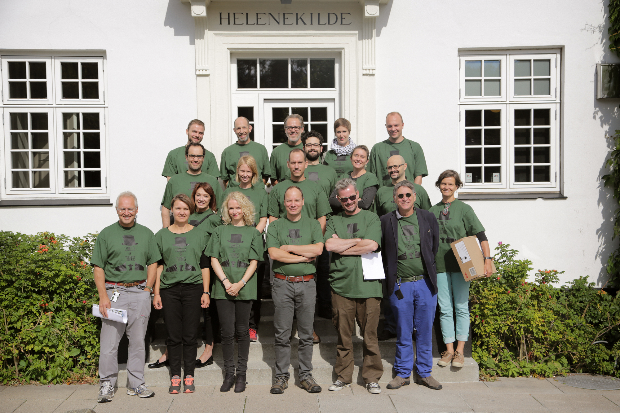 The entire group of anthropologists participating at the 'Comedy of Things' anthropological experiment that I organised in collaboration with Morten Axel Pedersen in August 2014.