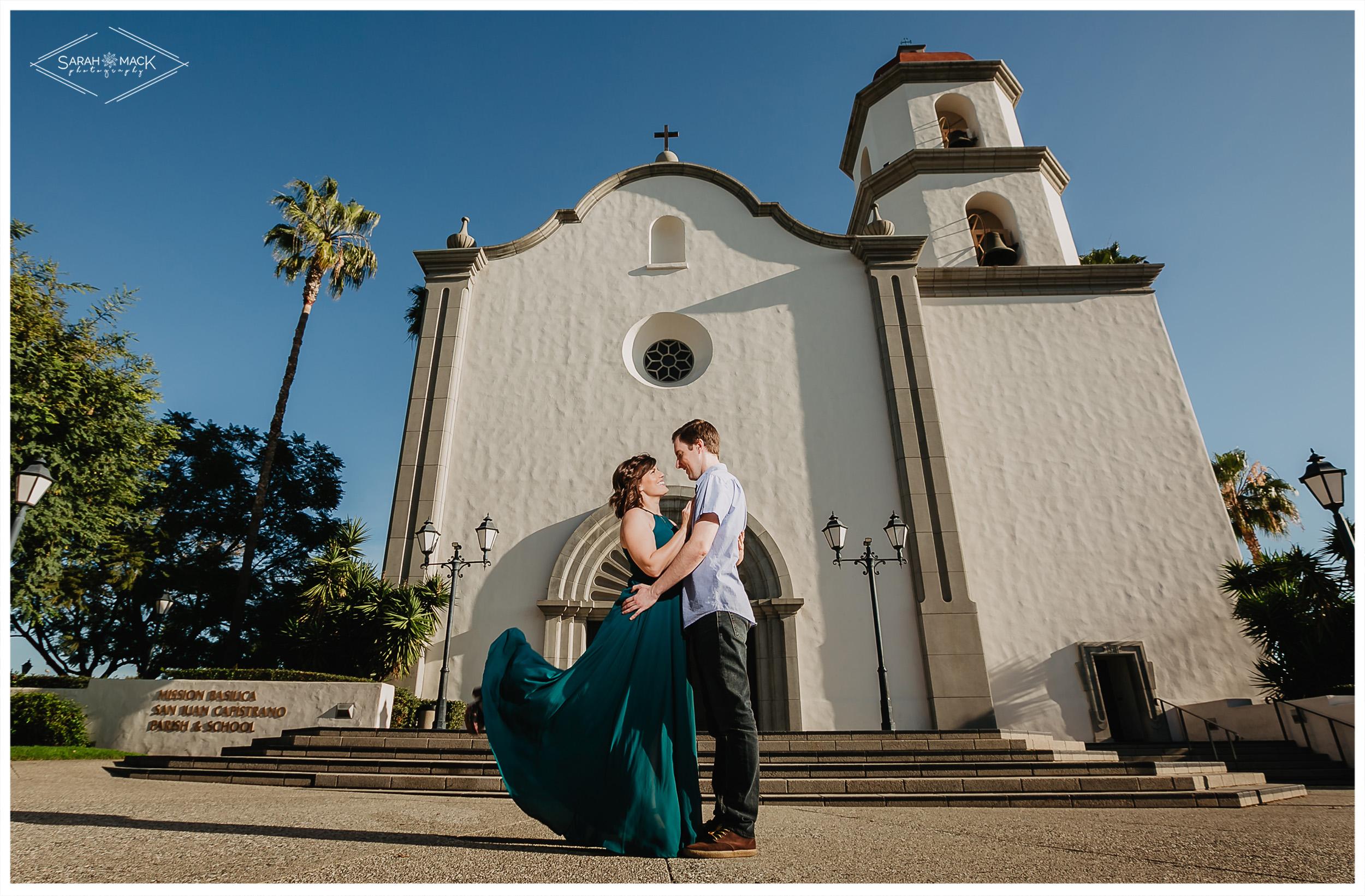 Mission Basilica San Juan Capistrano Engagement Photography