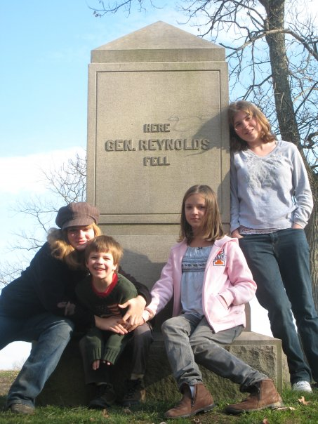 Me (on the far right) with my siblings in Gettysburg, Pennsylvania