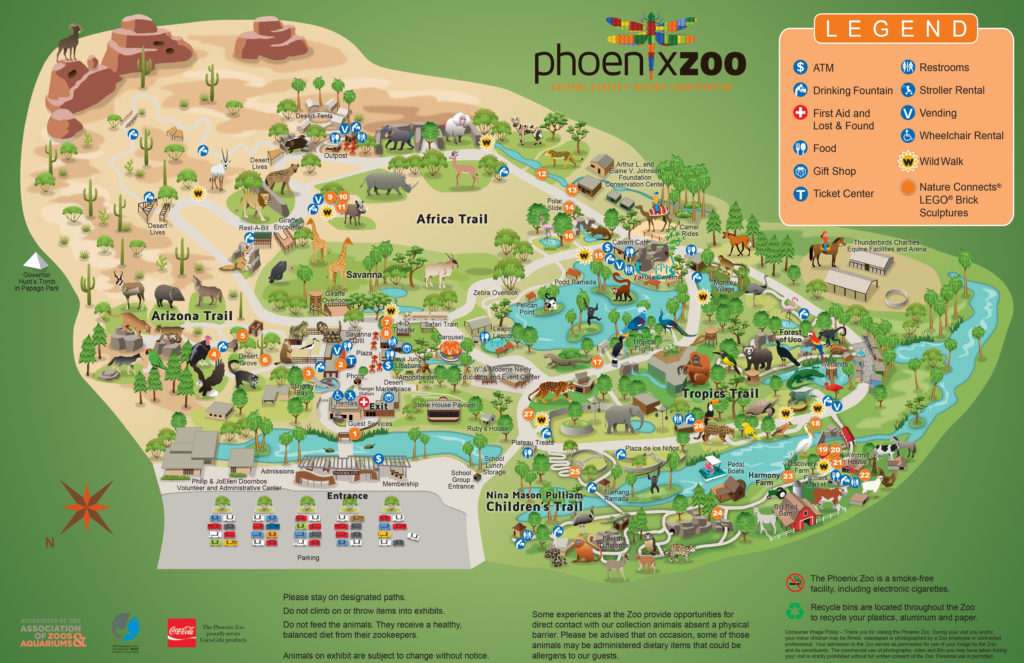 Map courtesy of the Phoenix Zoo website: www.phoenixzoo.org