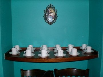 Tea cups from Alice's Tea Cup in NYC. Contributed by Ginger on the Go NYC