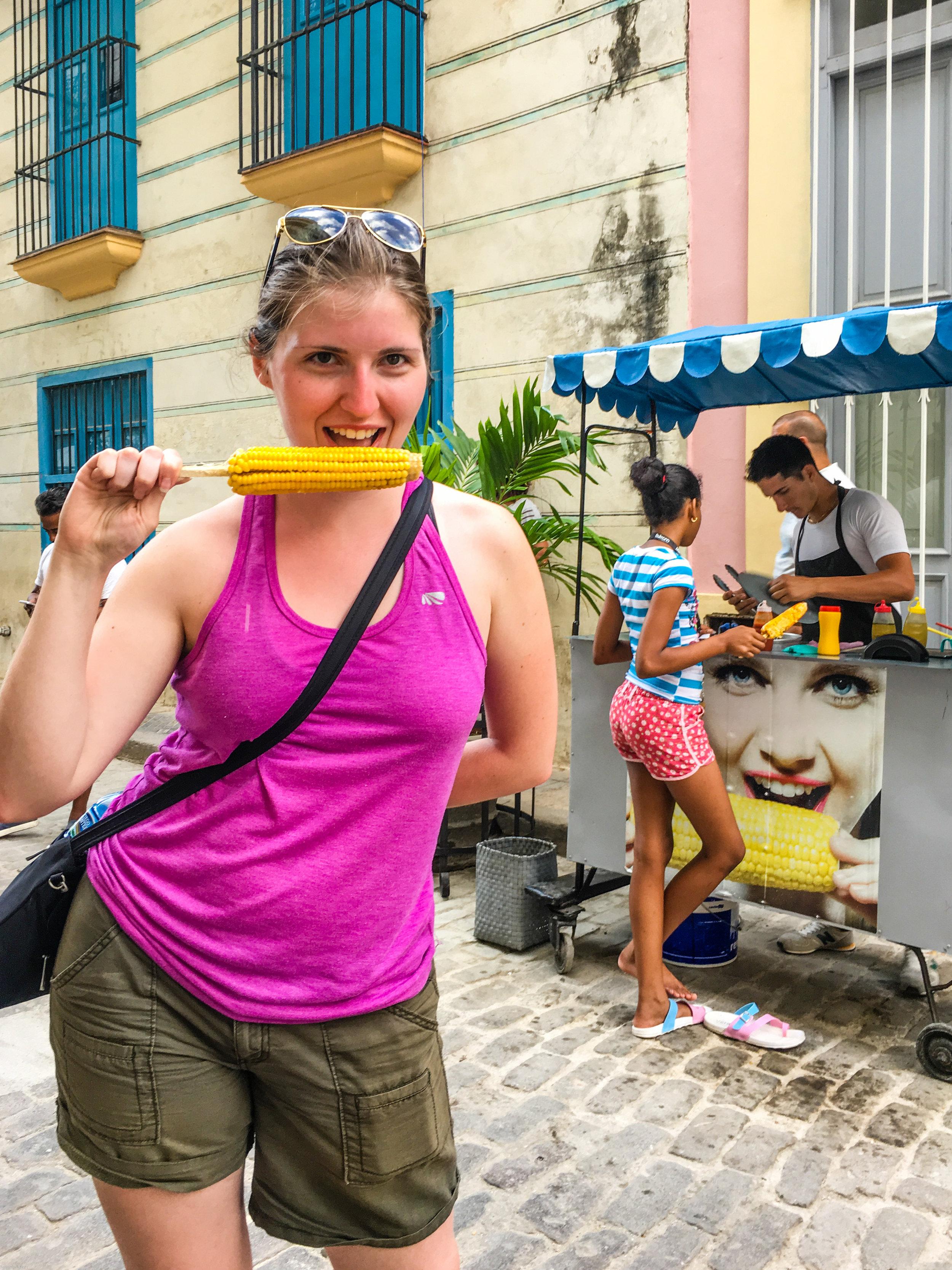 Eating corn (like a boss)