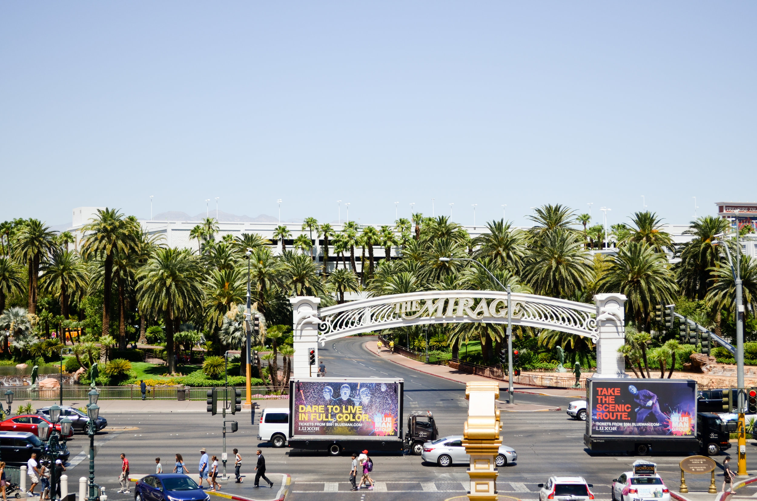 The main sign at the Mirage