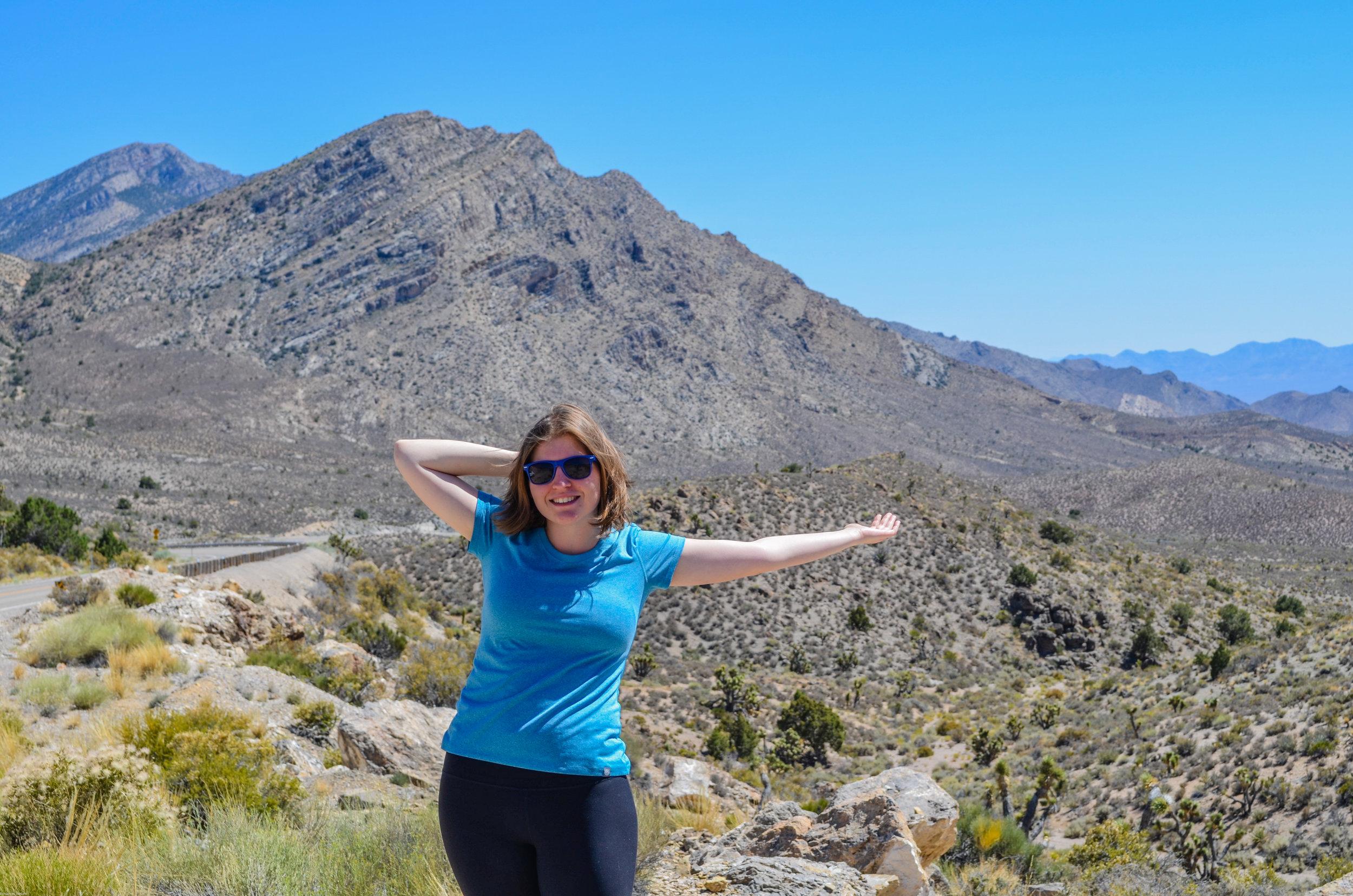 Mrs. Nerd having too much fun in the desert :)