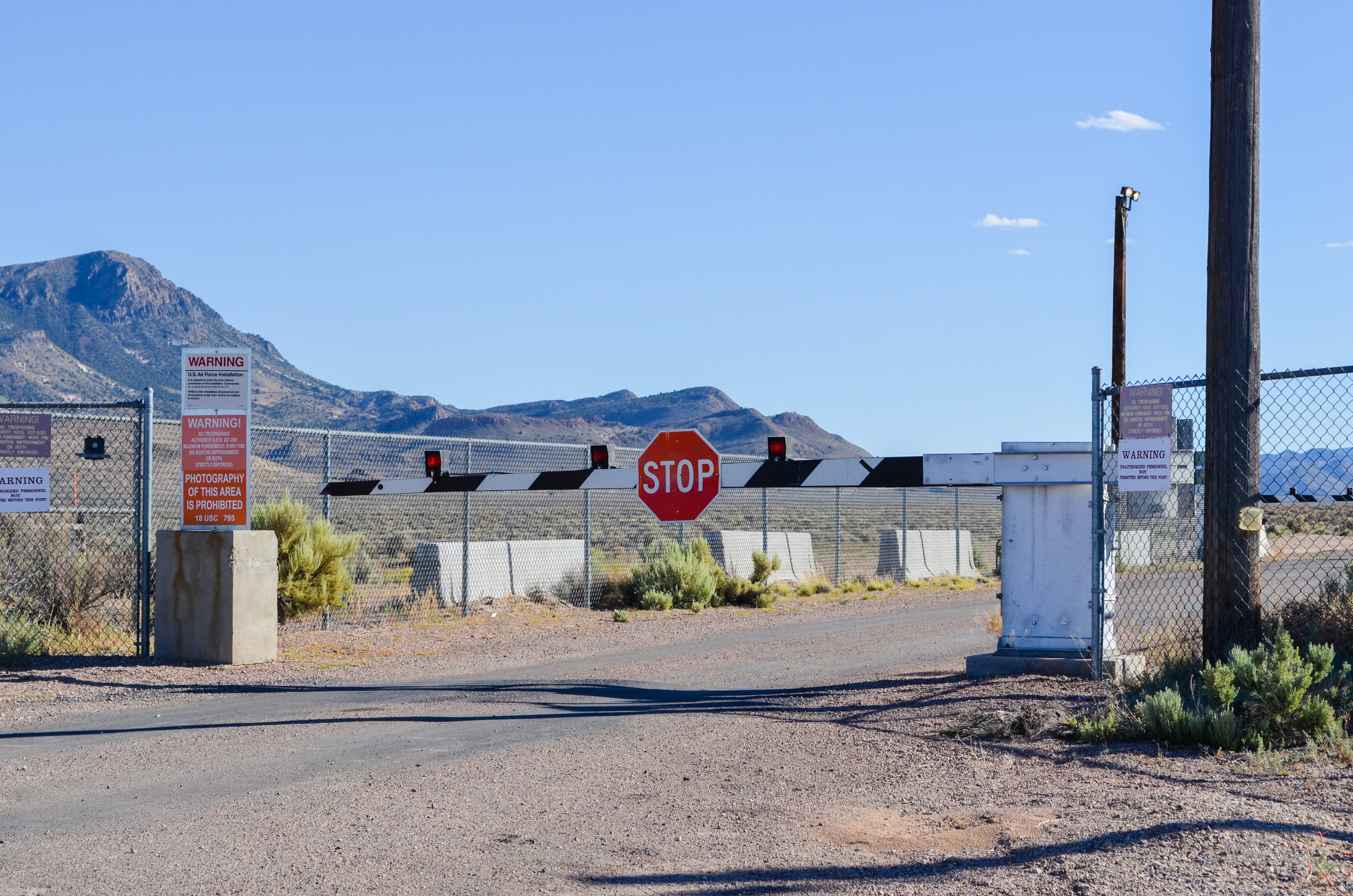 The back entrance to Area 51, Nevada
