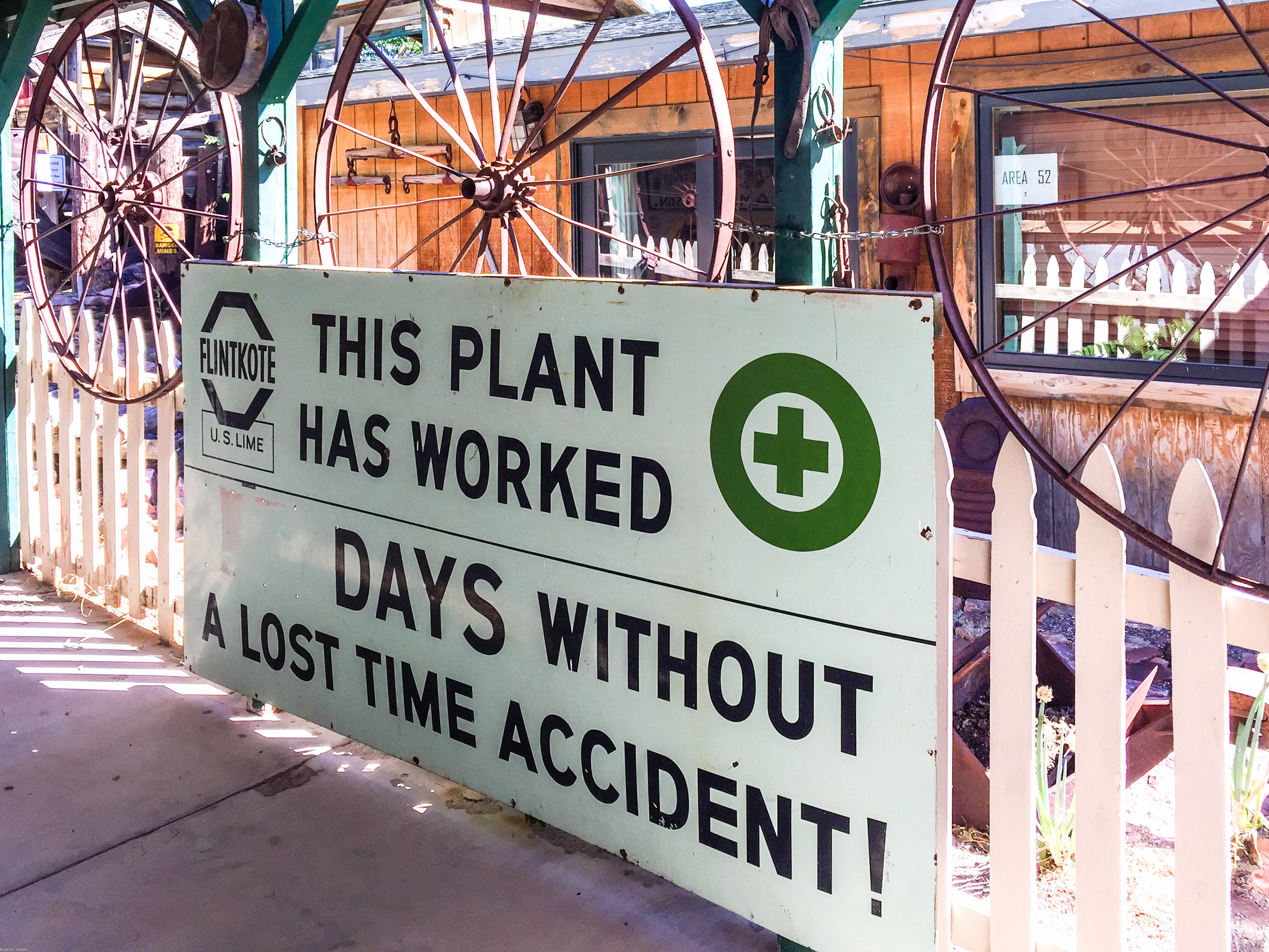 How many days do YOU think there's been without an accident?