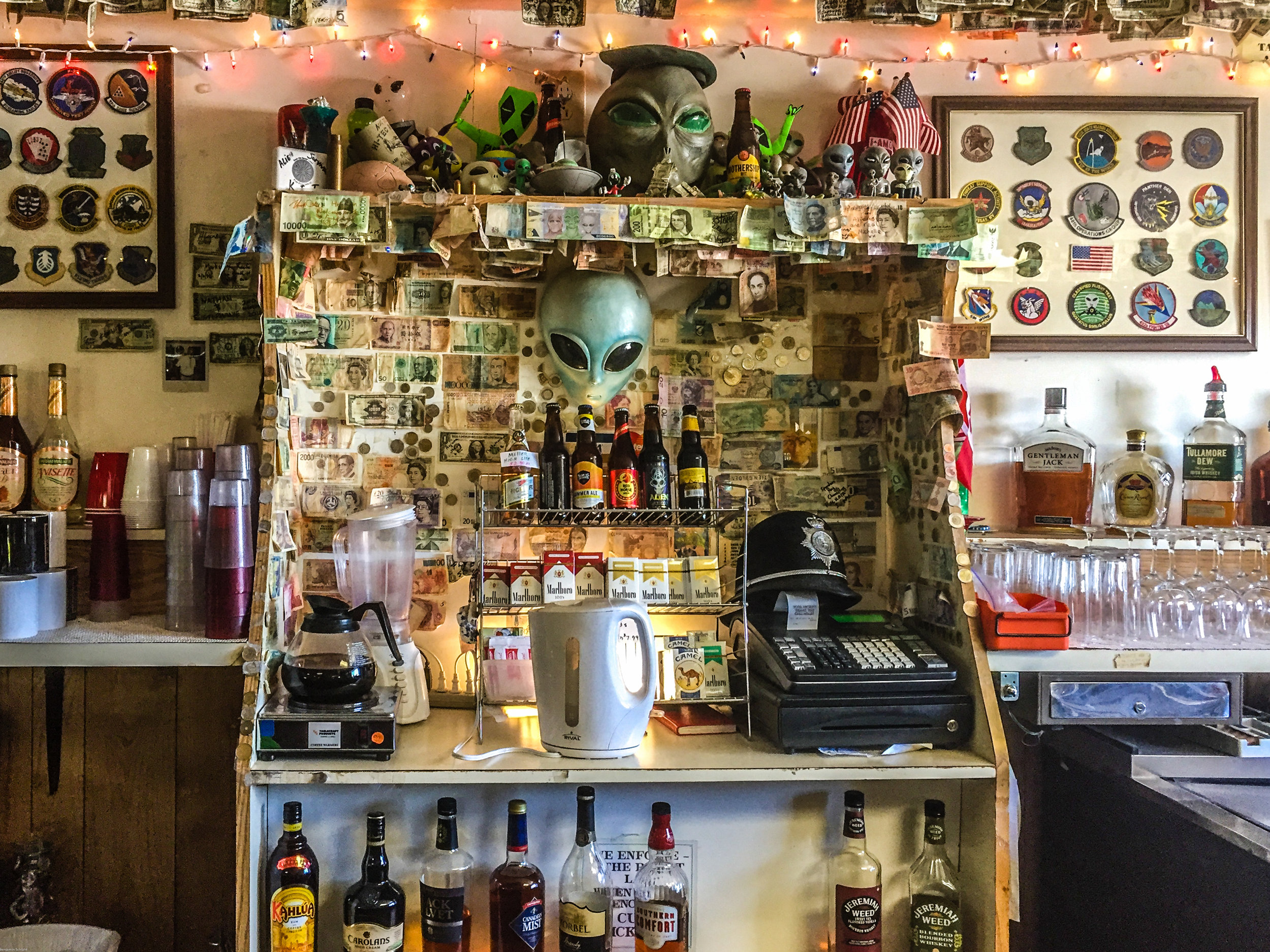 Behind the bar, full of aliens and character