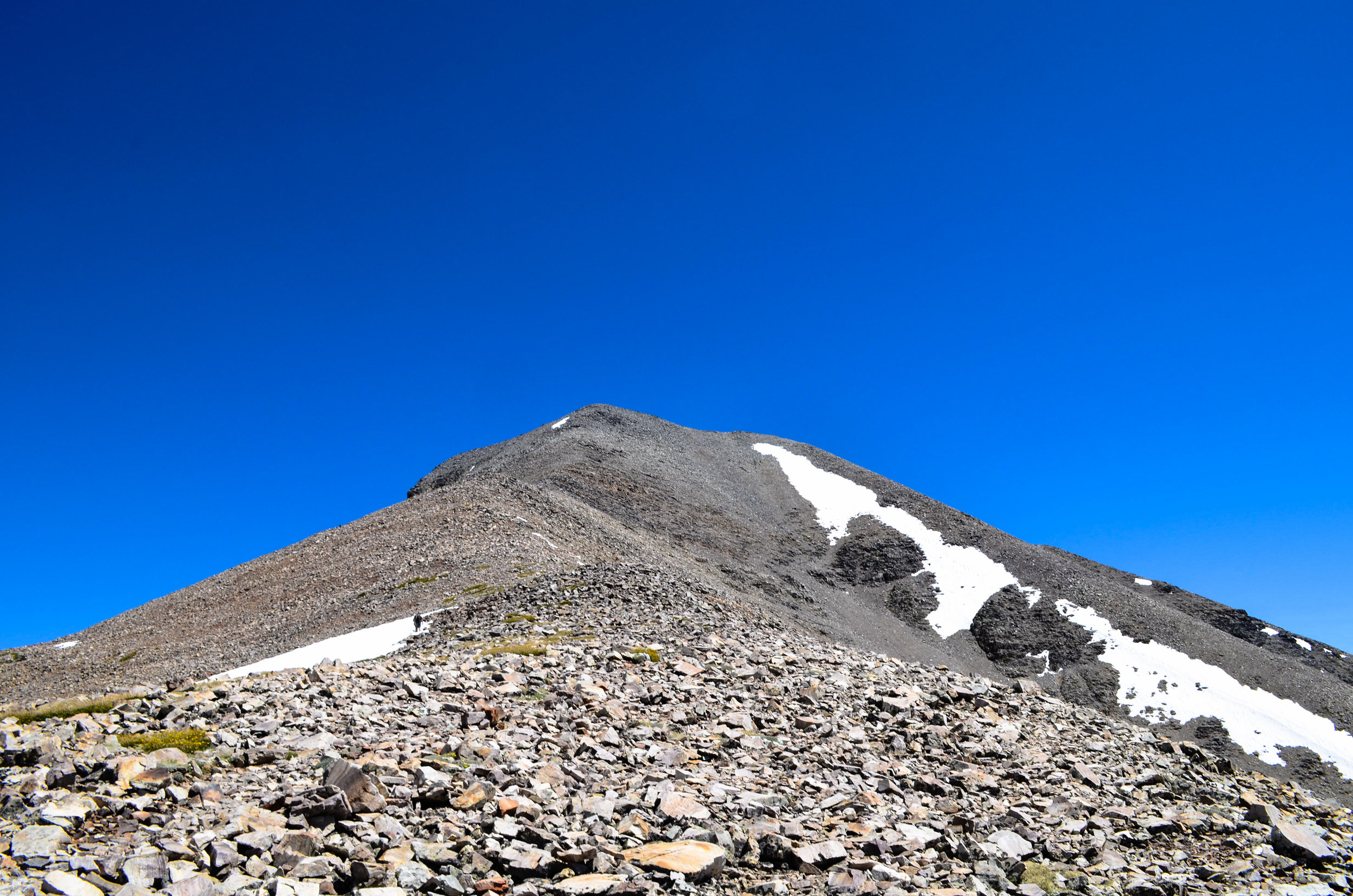 The final hike to the peak — farther than it looks