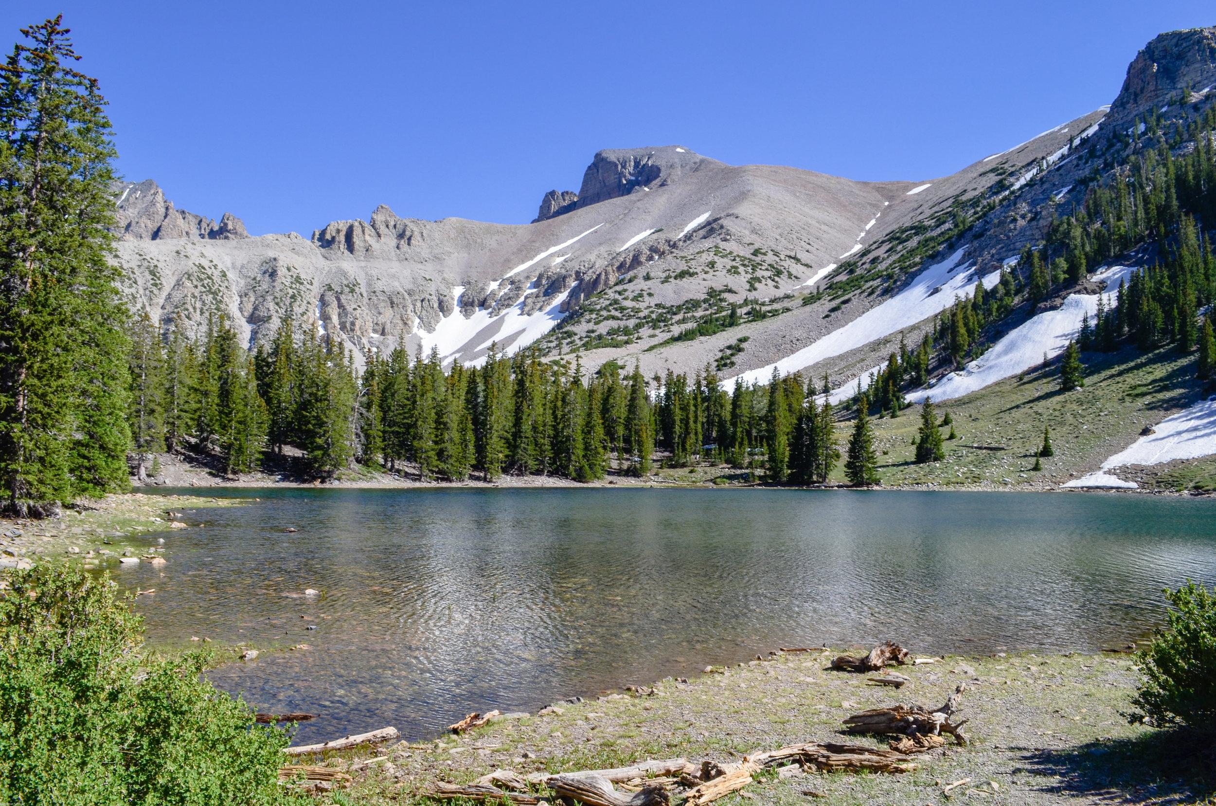 Stella Lake and Wheeler Peak, all in one shot