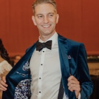 Our client @gtimion looking sharp in his custom velvet jacket on his wedding day. Congrats Graham and @alextimion #wedding #style #tux #suit #party #fashion #custom #tailor #newyearseve #groom