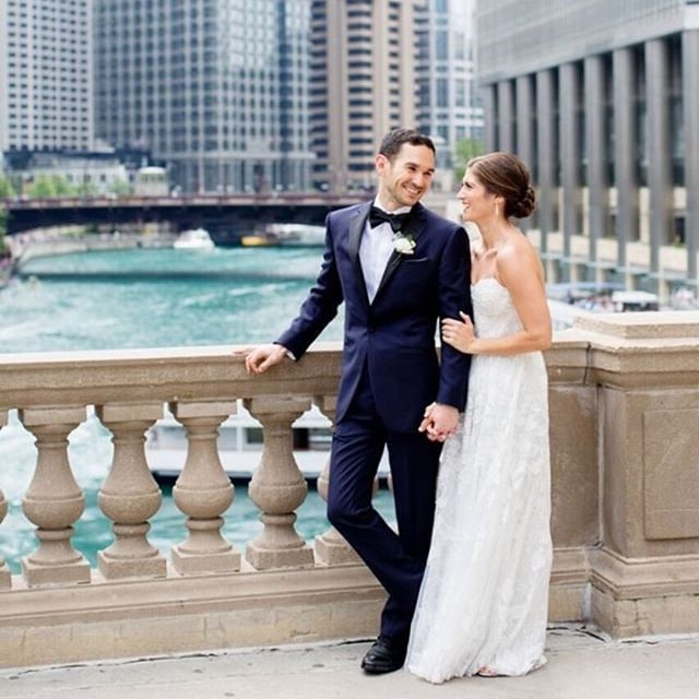 Doesn't get better than this! Custom wedding tuxedo: navy with black lapels. #customchicago #customclothing #customwedding #customchicago
