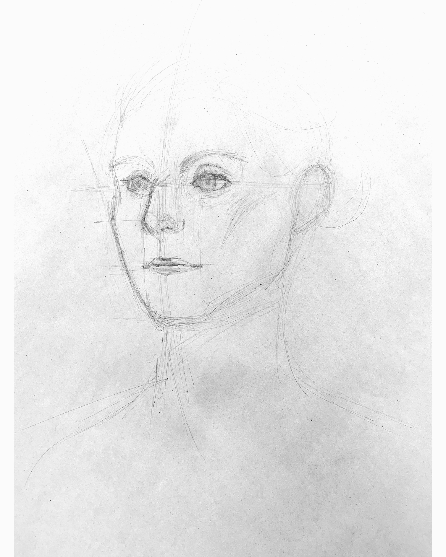 Teen Portfolio Development-  10 minute portrait sketch