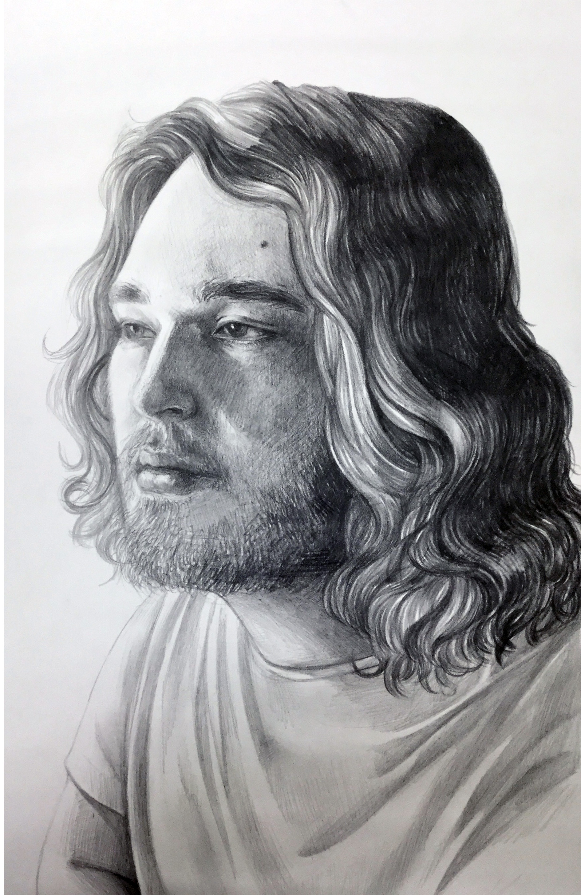 LIGHT COLOR and DESIGN-  Extra Credit  Portrait  Graphite on Paper