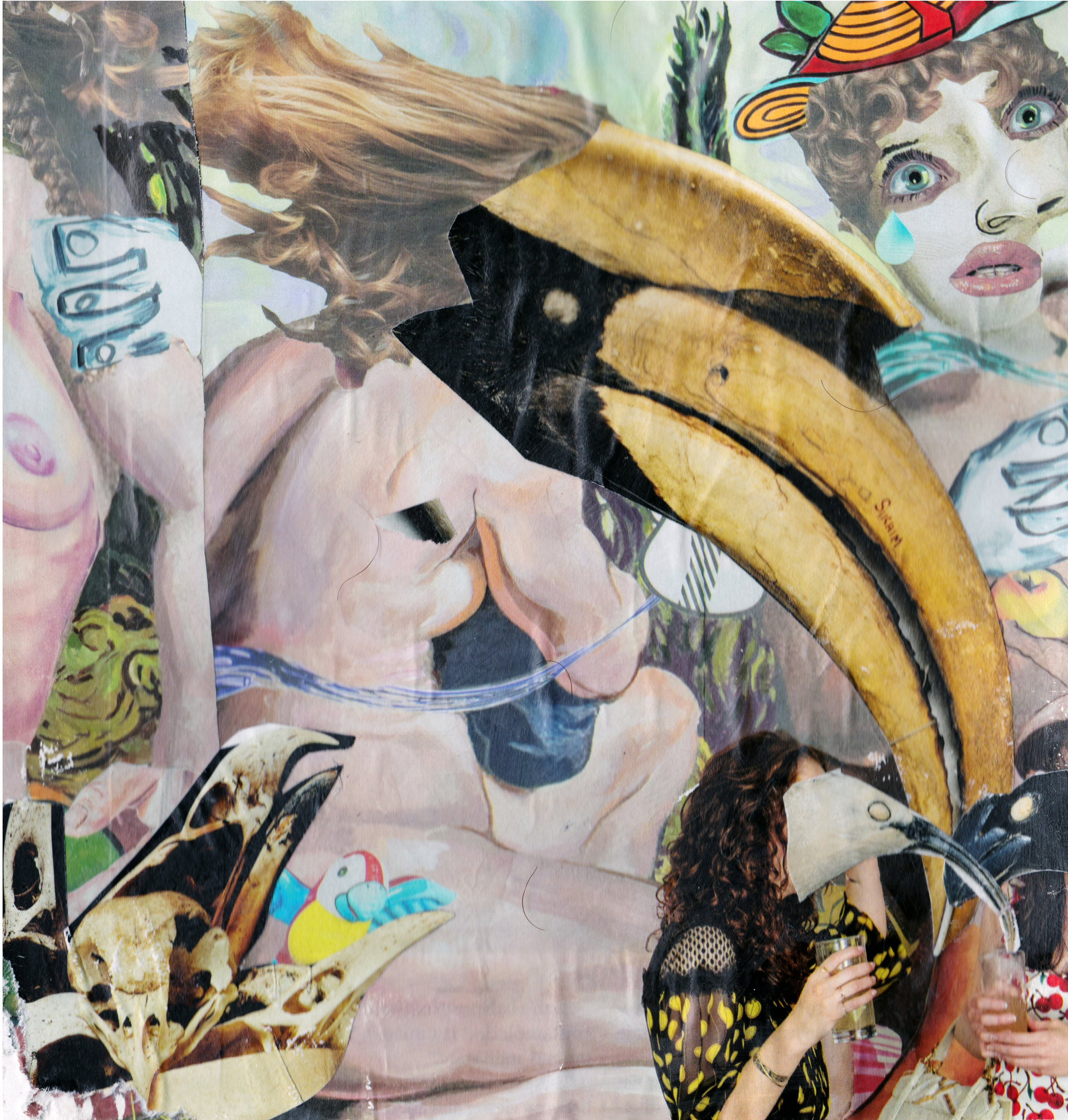 INTRODUCTION TO ART-    Theme Based Collage   Students are asked to appropriate and compile found images into a composition that share a theme.  Collage on Paper