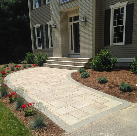 Experienced walkway and patio installation in Sherborn, MA.
