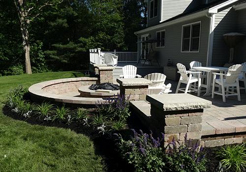 Landscape design and patio installation in Millis MA