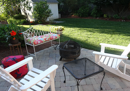 Patio installation and landscape maintenance in Wellesley MA