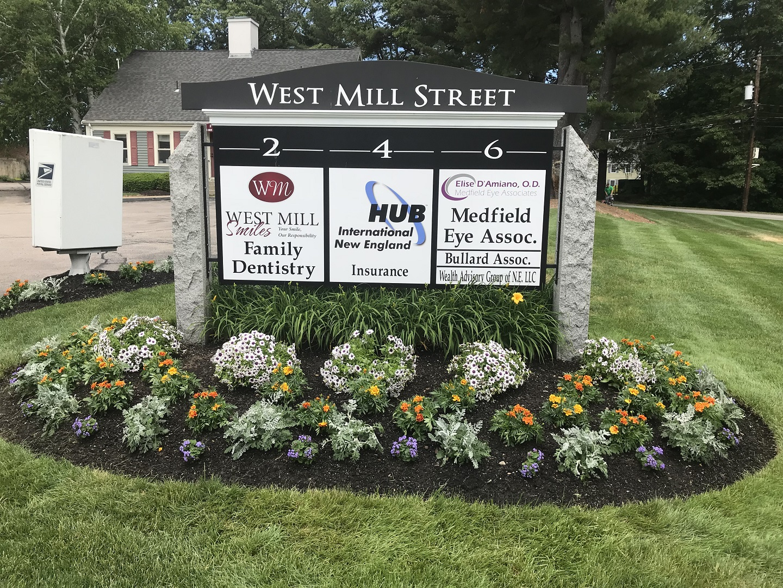 Commercial landscape maintenance in Millis, Massachusetts