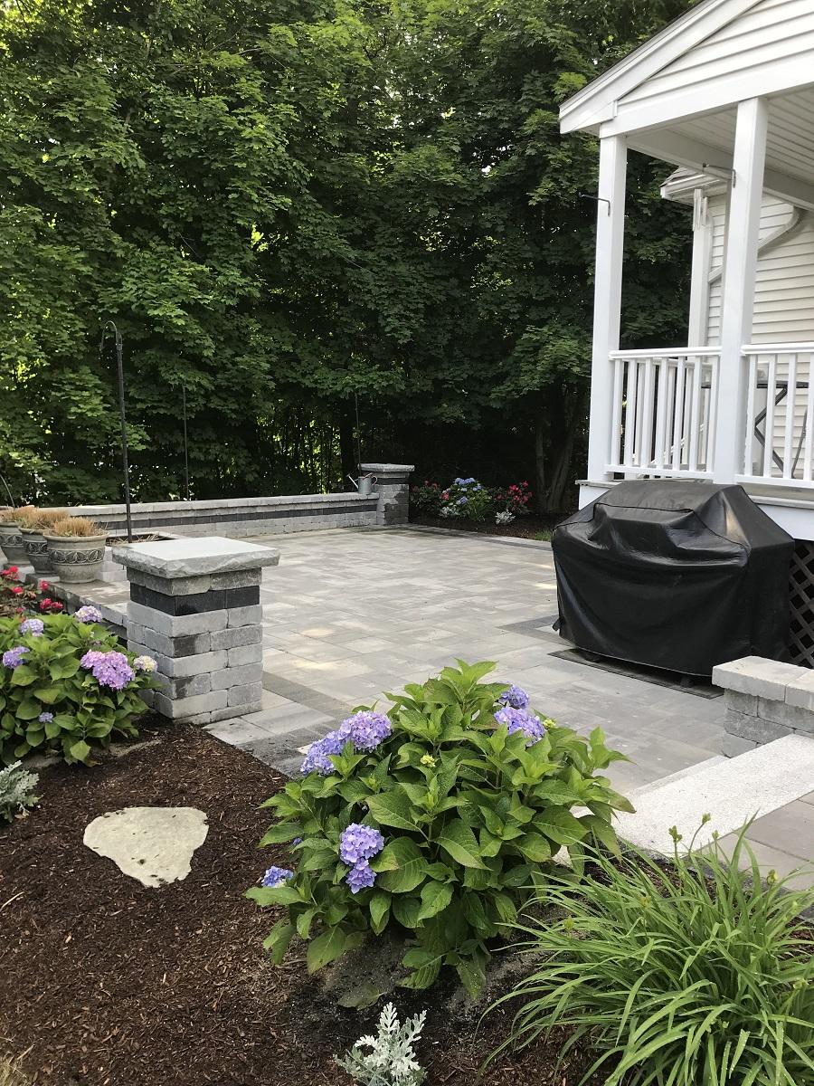 Stunning patio installation in Sharon MA
