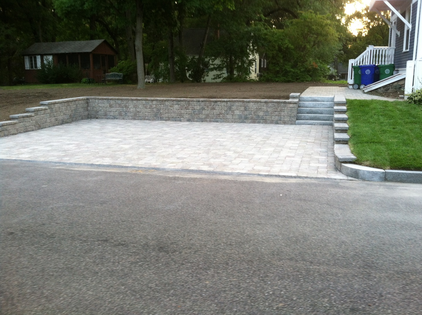 Beautiful driveway in Needham MA