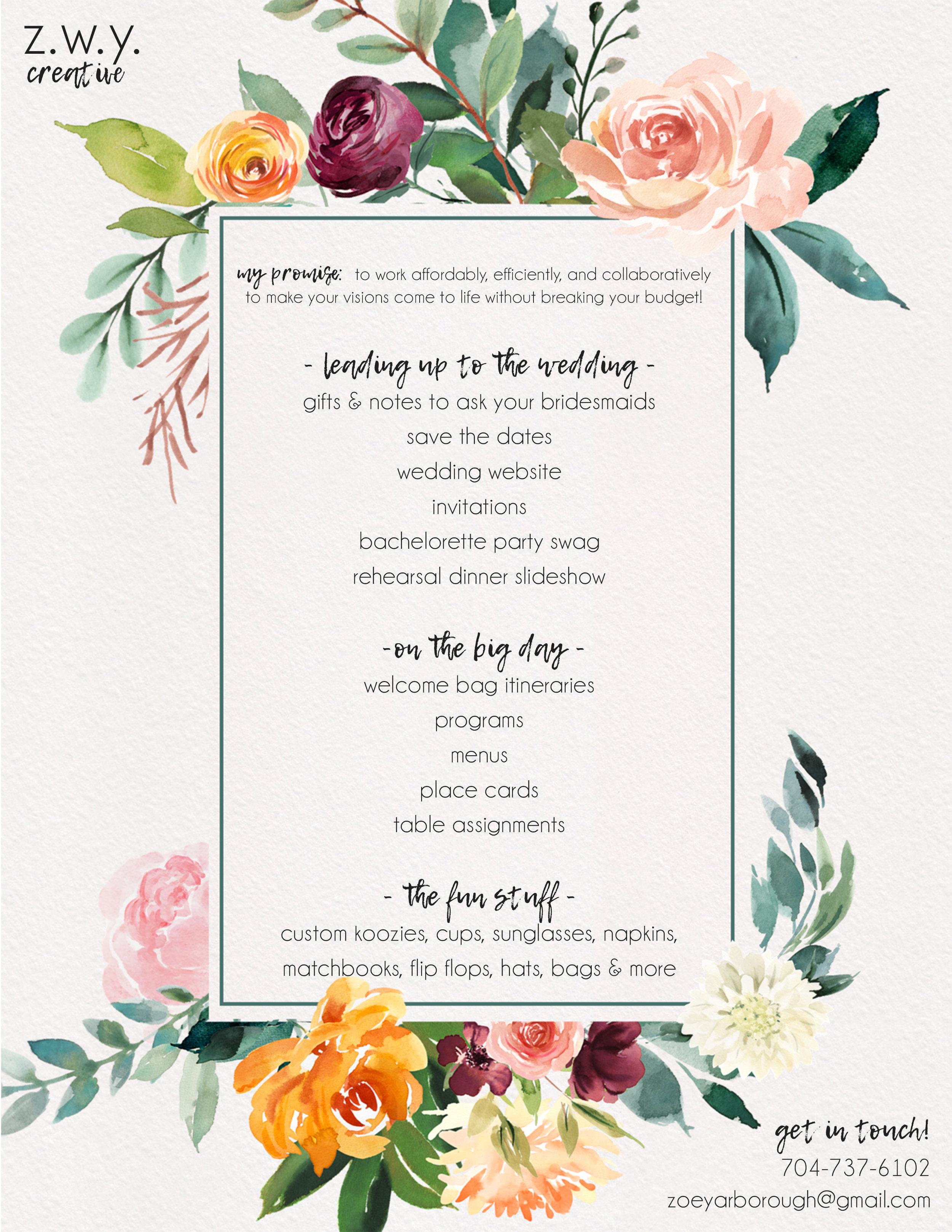 Zoe Wedding One Sheet.jpg