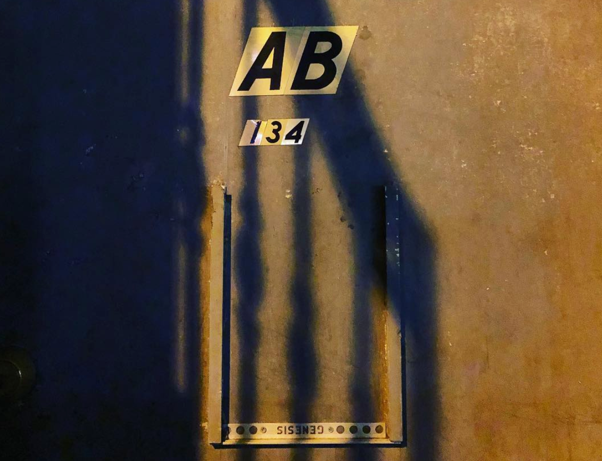 GETTING IN. - Find the door 'AB' and ring the bell