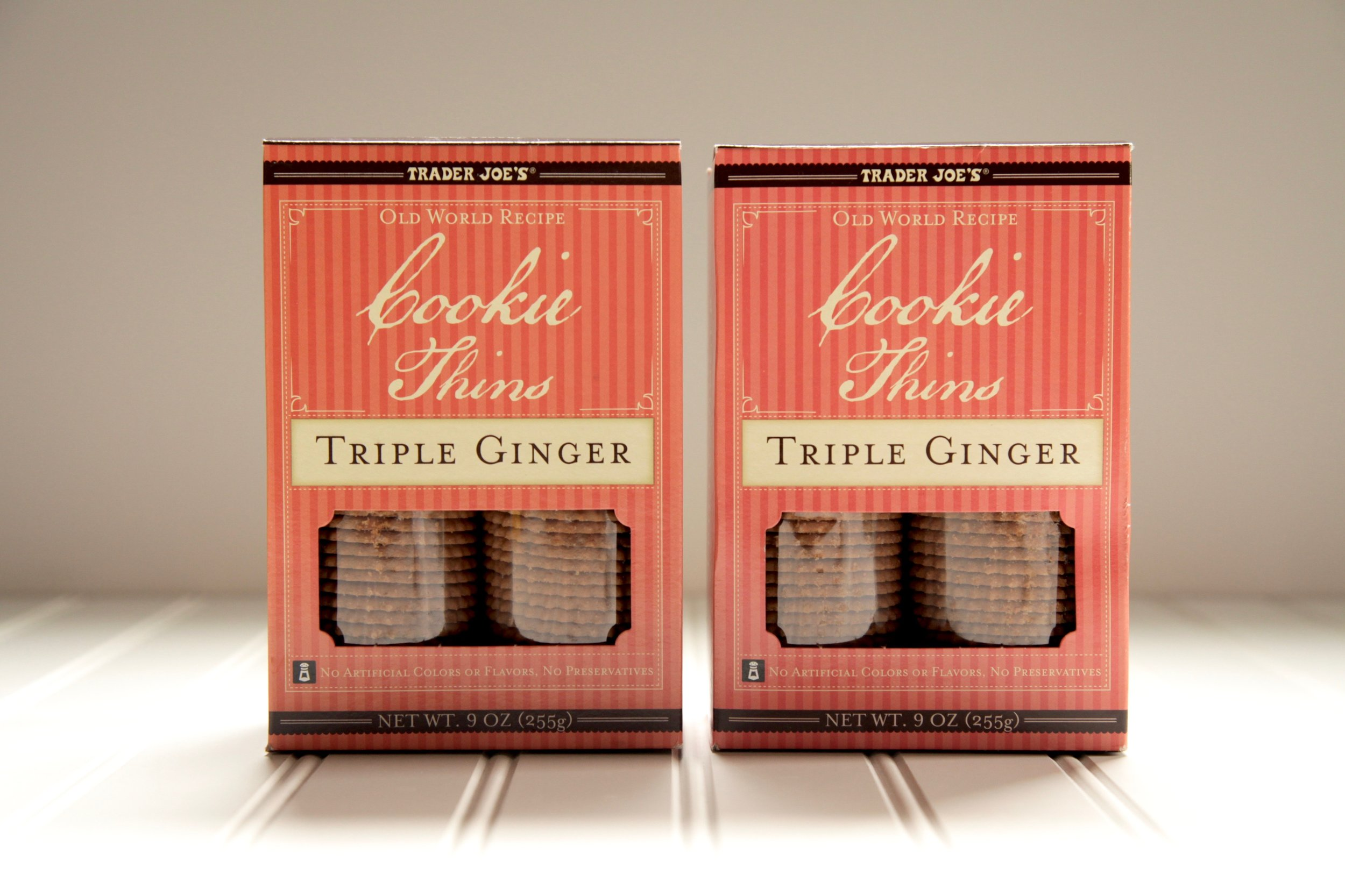 And the winning cookie is....TRADER JOE'S COOKIE THINGS in TRIPLE GINGER (don't fret, if you don't live near a Trader Joe's Anna's ginger things are equally delish and available all over the country!