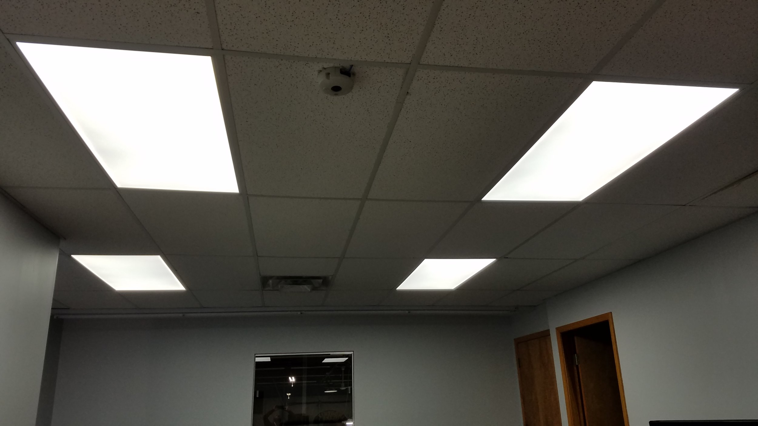 LED Flat panel lights in a drop ceiling