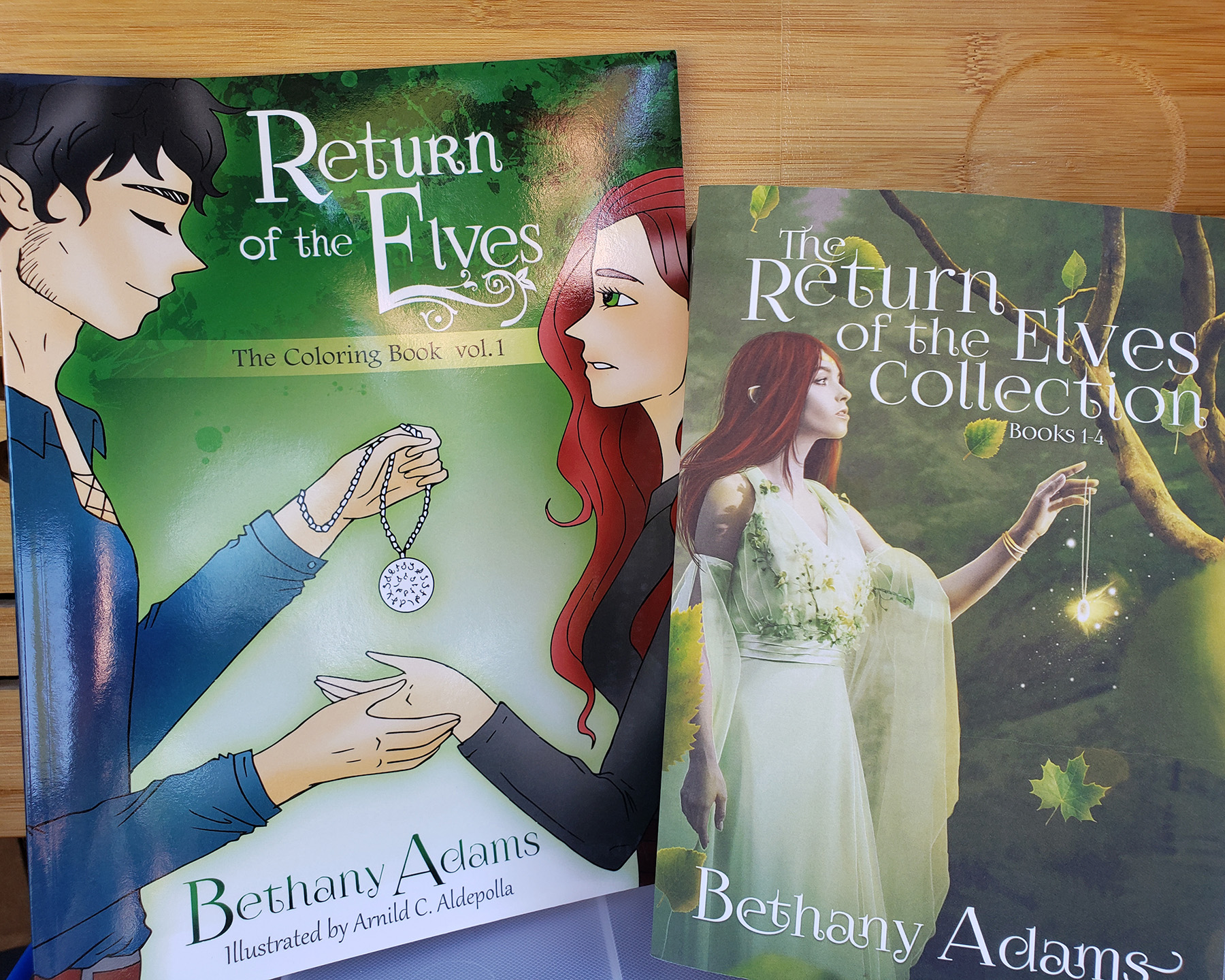 The two lovely books up for grabs.