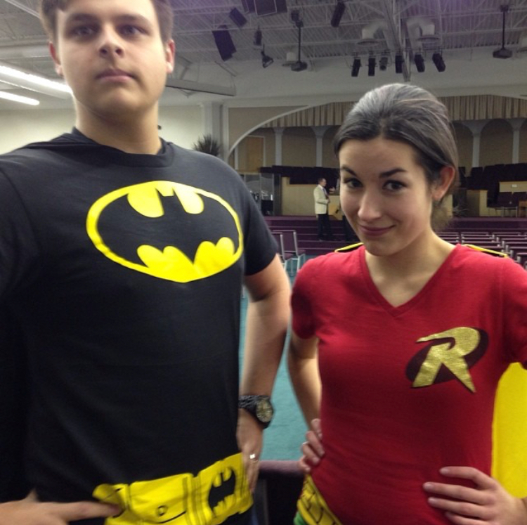 2013. Not real costumes but we matched!