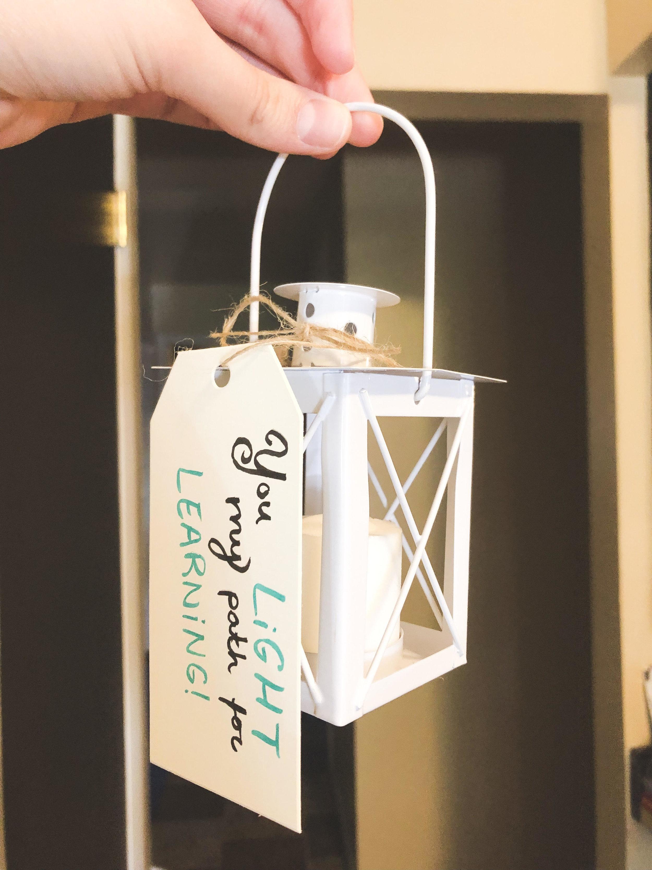 lantern teacher gift you light my path for learning