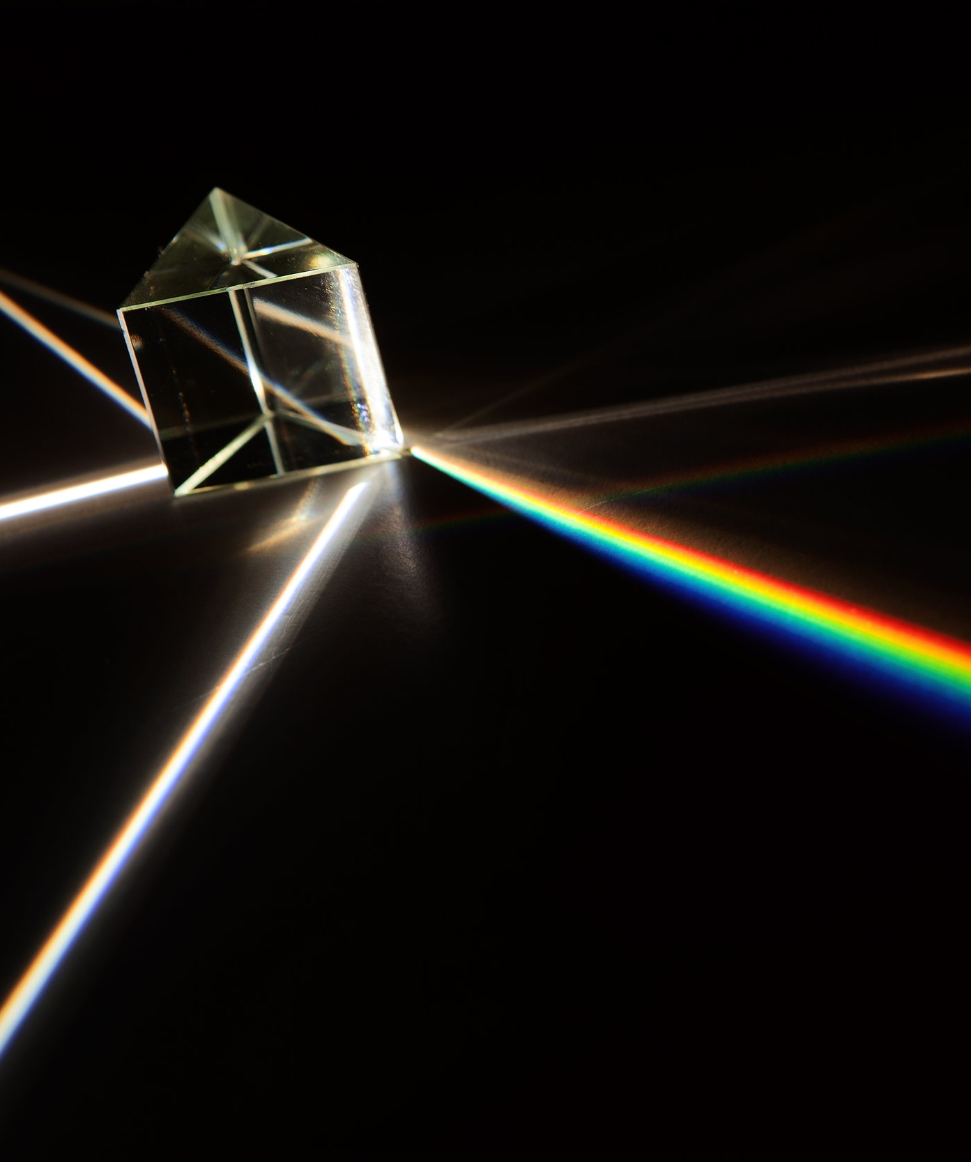 A prism separates color from white light