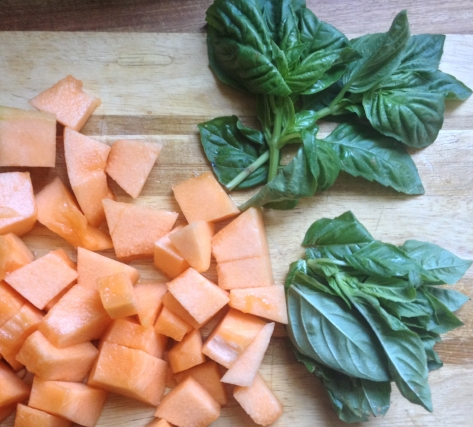 melon sorbet cantaloupe basil