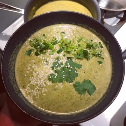tahini veggie kick soup