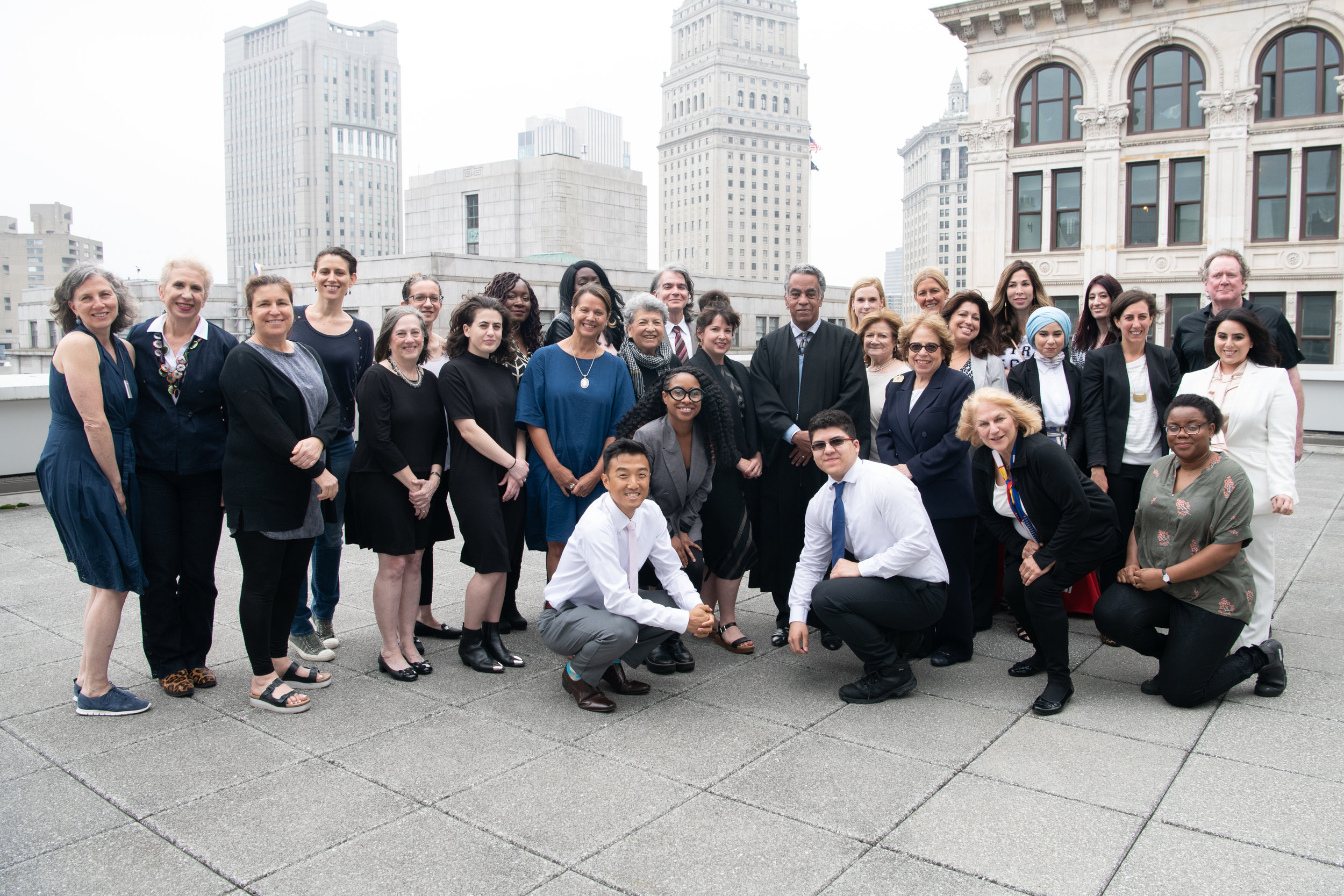 The Honorable Clark V. Richardson with Advocates from the May 2019 Swearing-in Ceremony