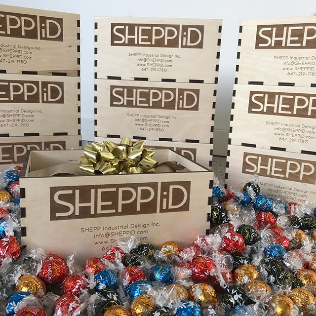 #SHEPPiD #christmasbox #client #friends #family #presents #lindt #chocolates #industrialdesign - This was a fun little project!