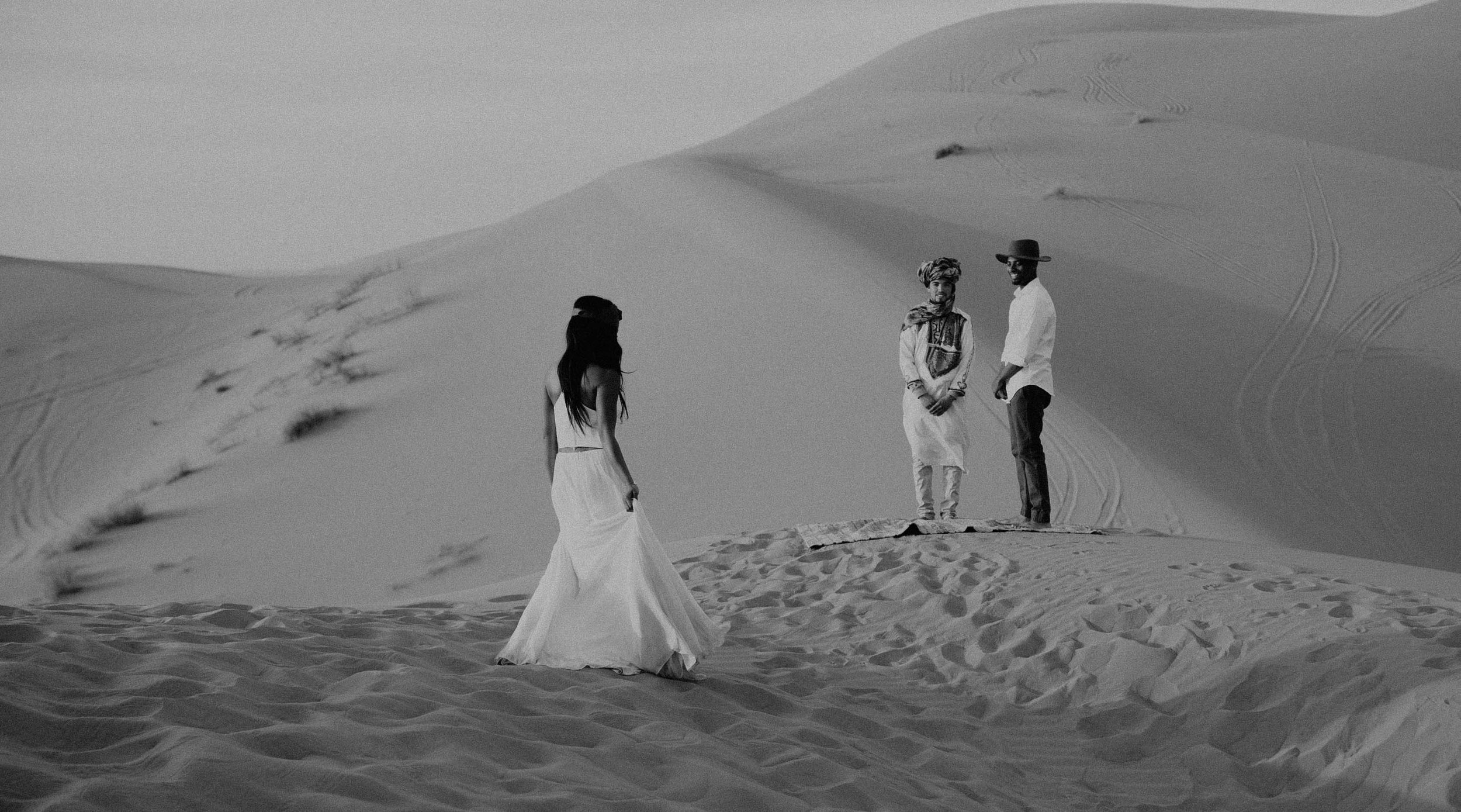 Elopement in the Sahara, Merzouga Morocco. Blog link  here.
