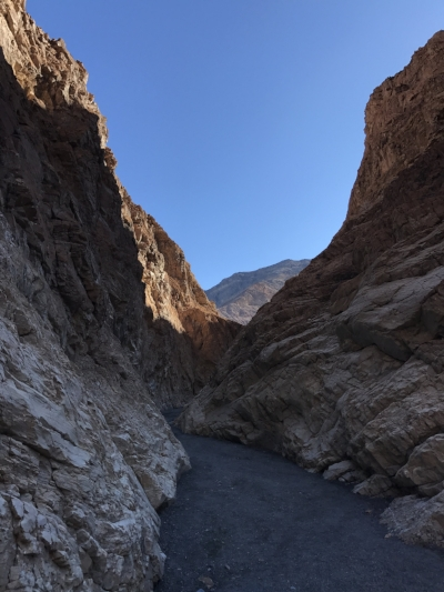 Approaching the narrows of Mosaic Canyon